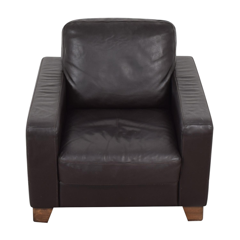 Natuzzi Natuzzi Black Leather Chair for sale