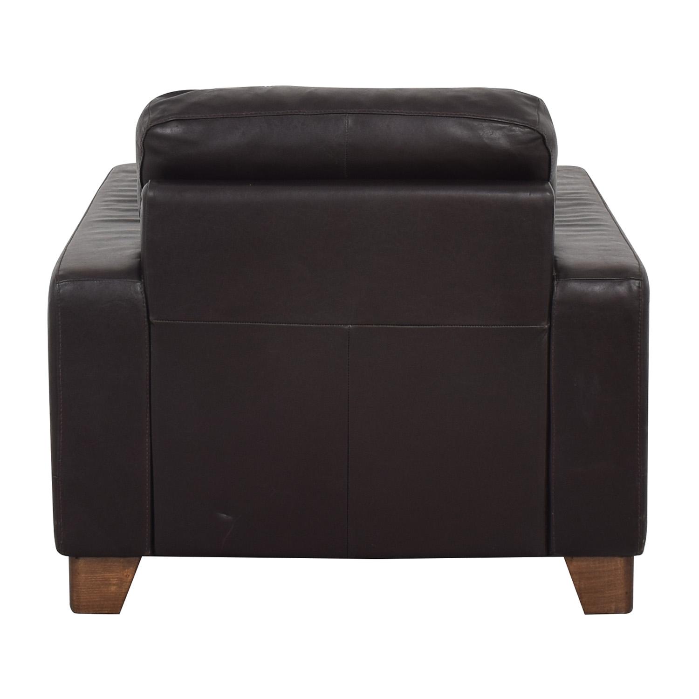 Natuzzi Natuzzi Black Leather Chair second hand