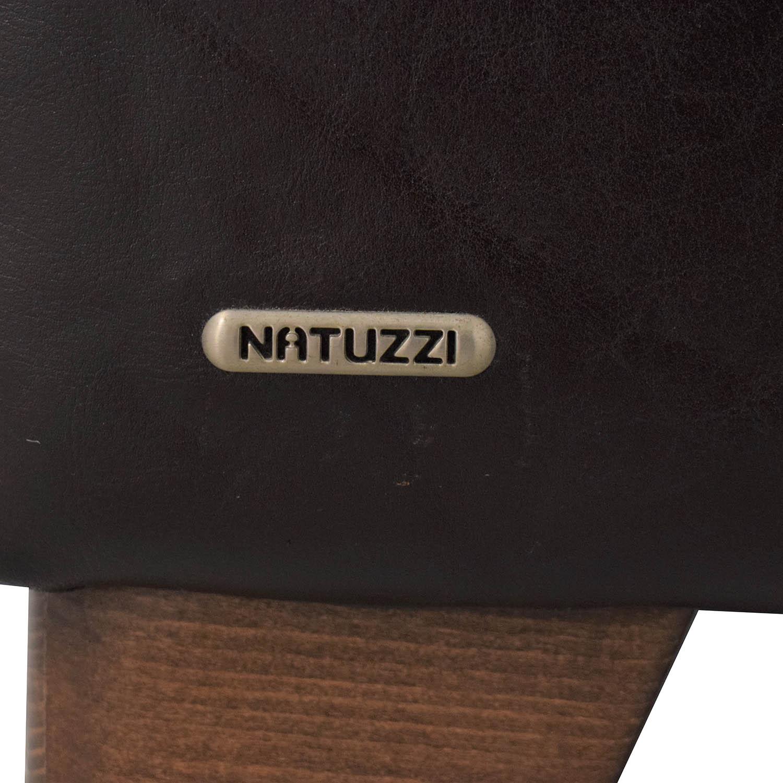 Natuzzi Black Leather Chair sale
