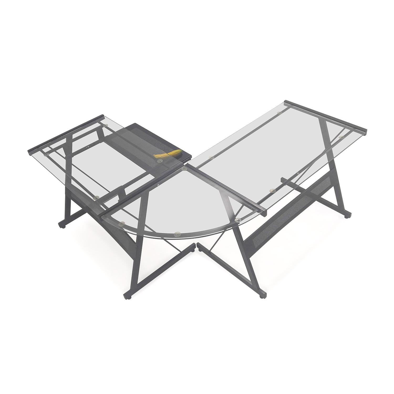 Office Max L-Shape Glass Desk coupon