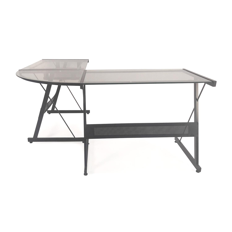 L-Shape Glass Desk Office Max