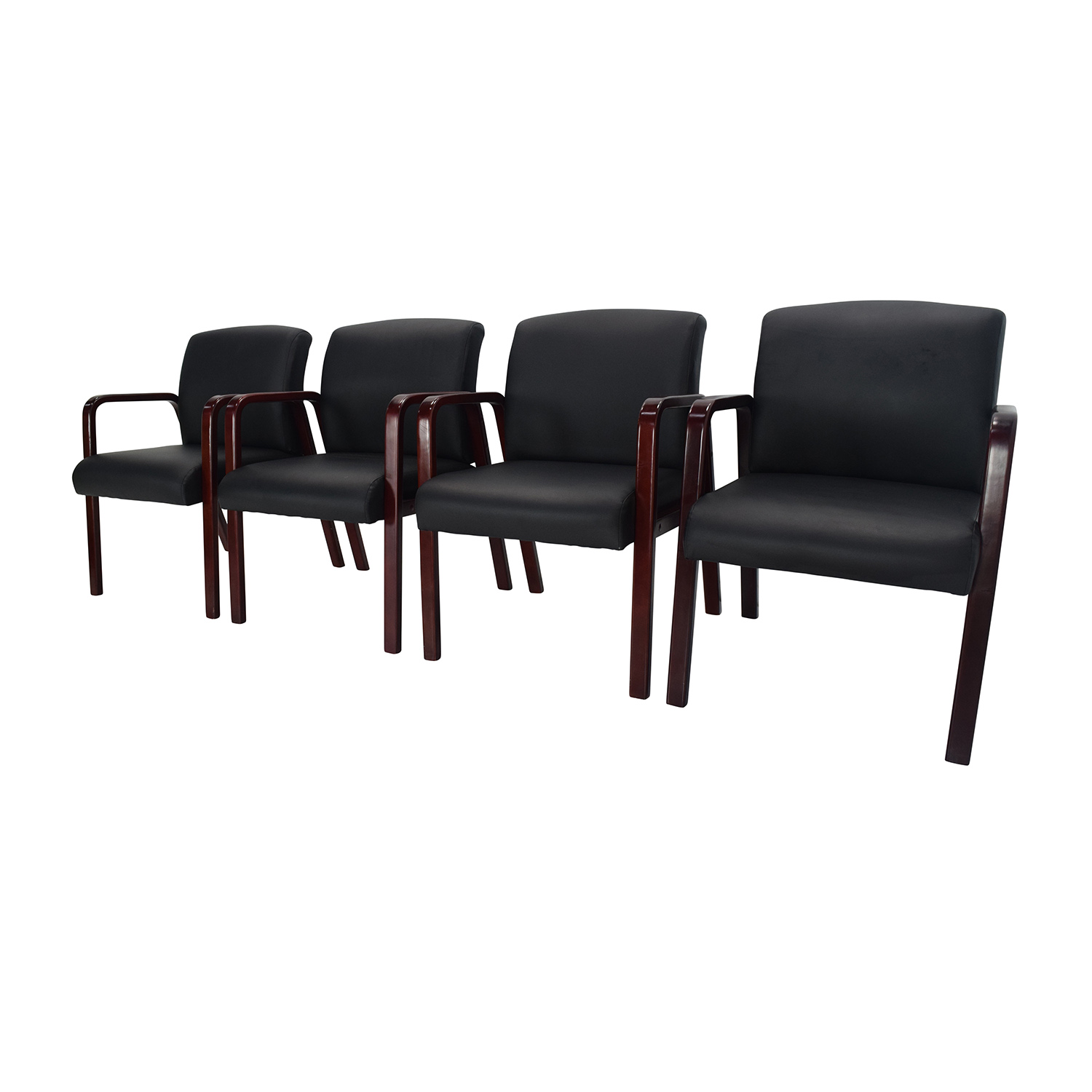 89 off office max set of 4 office chairs chairs. Black Bedroom Furniture Sets. Home Design Ideas