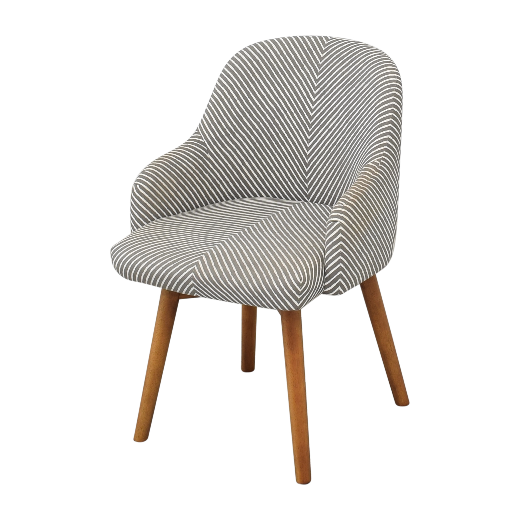 West Elm West Elm Saddle Office Chair grey & white