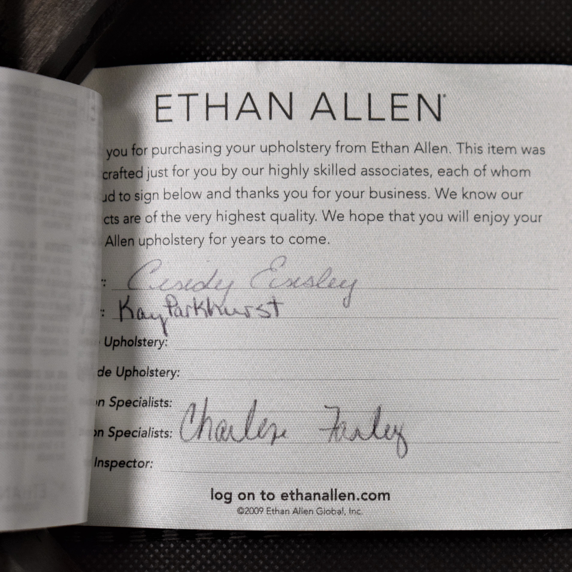 Ethan Allen Impressions Bar Stool sale