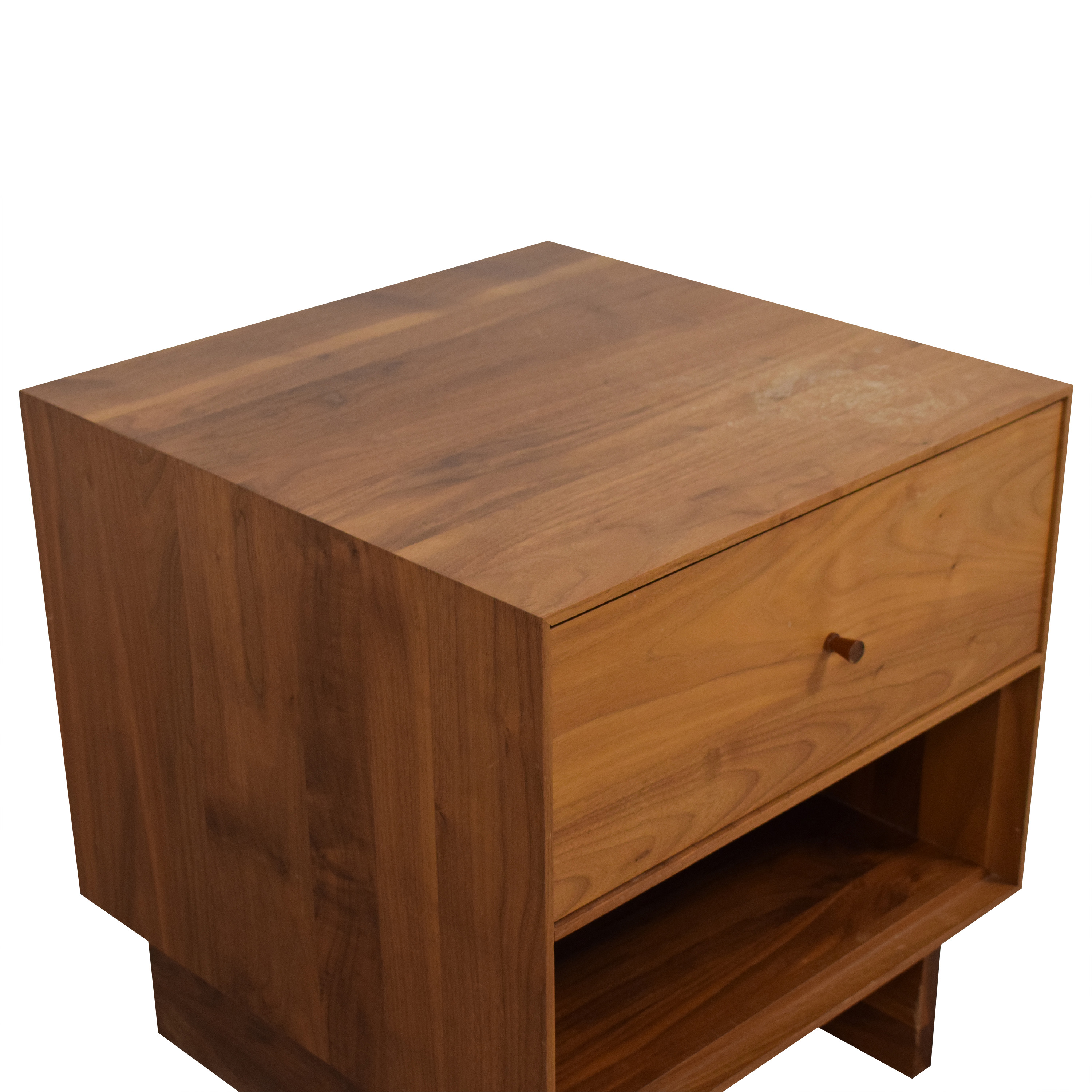 Room & Board Hudson One-Drawer Nightstand with Wood Base sale