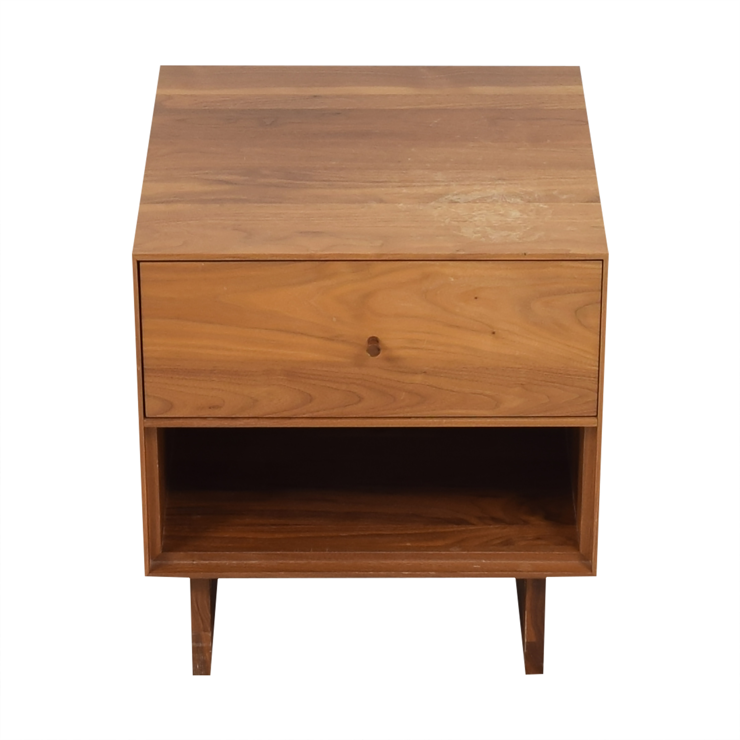 shop Room & Board Hudson One-Drawer Nightstand with Wood Base Room & Board End Tables