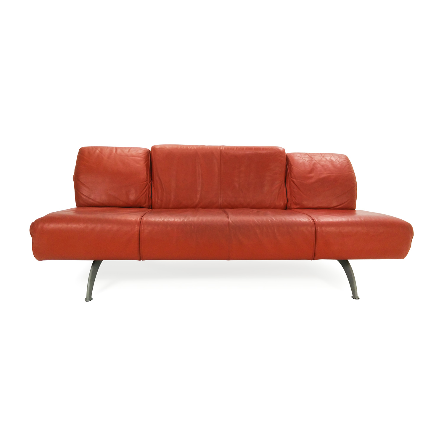 Team By Wellis Team By Wellis Red Leather Sofa Second Hand