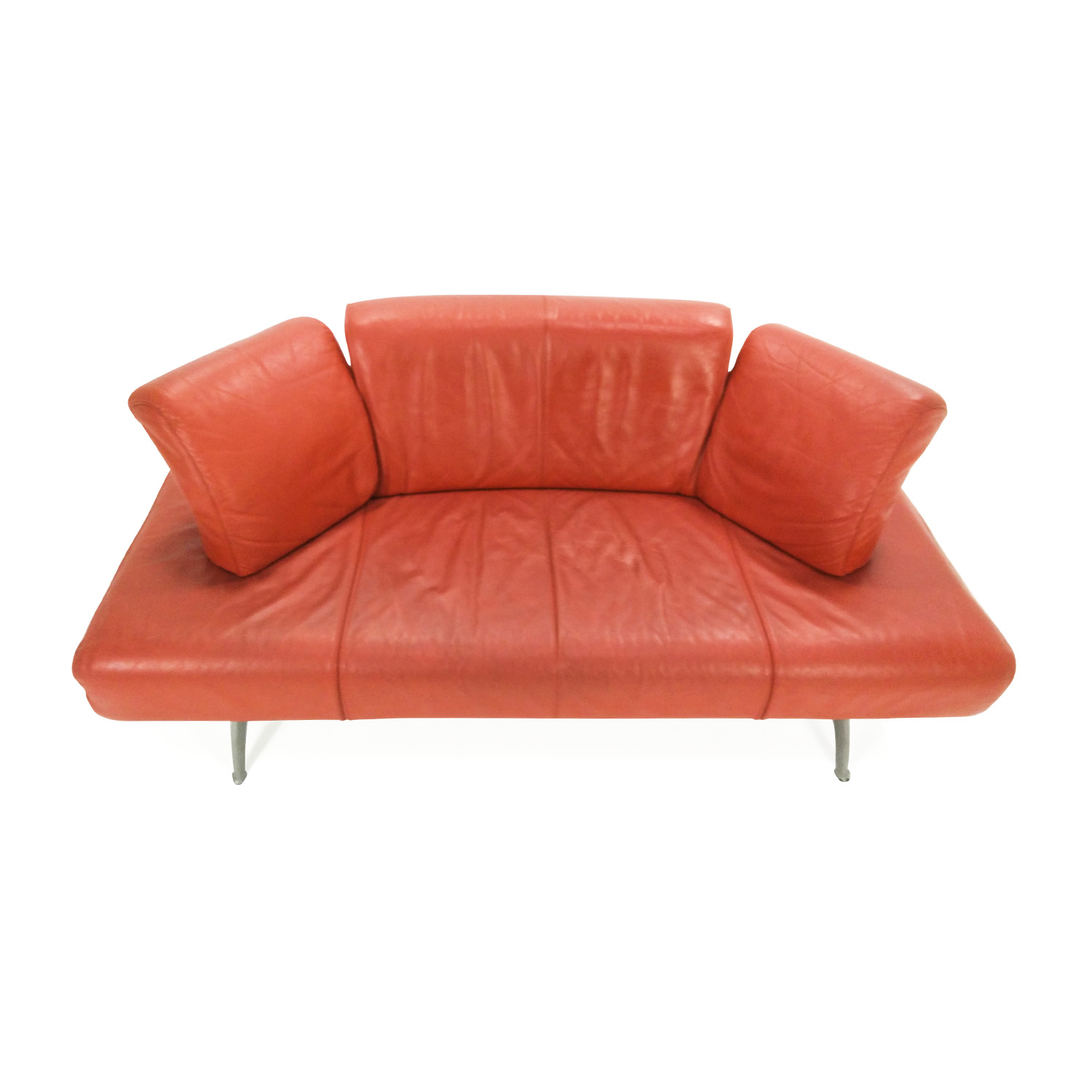 82% OFF - Team by Wellis Team by Wellis Red Leather Sofa / Sofas