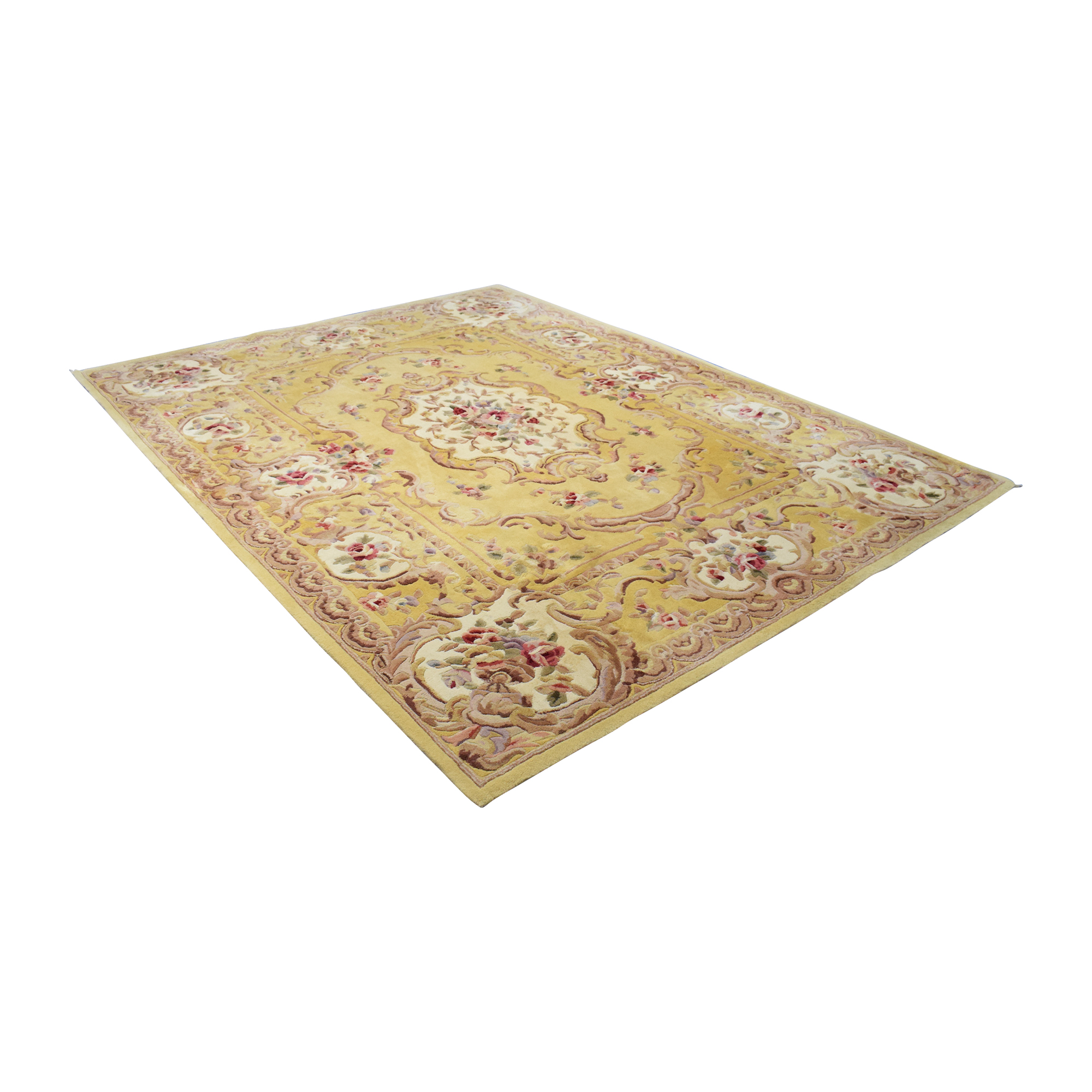 Royal Palace Royal Palace Savonnerie Wool Area Rug multicolor