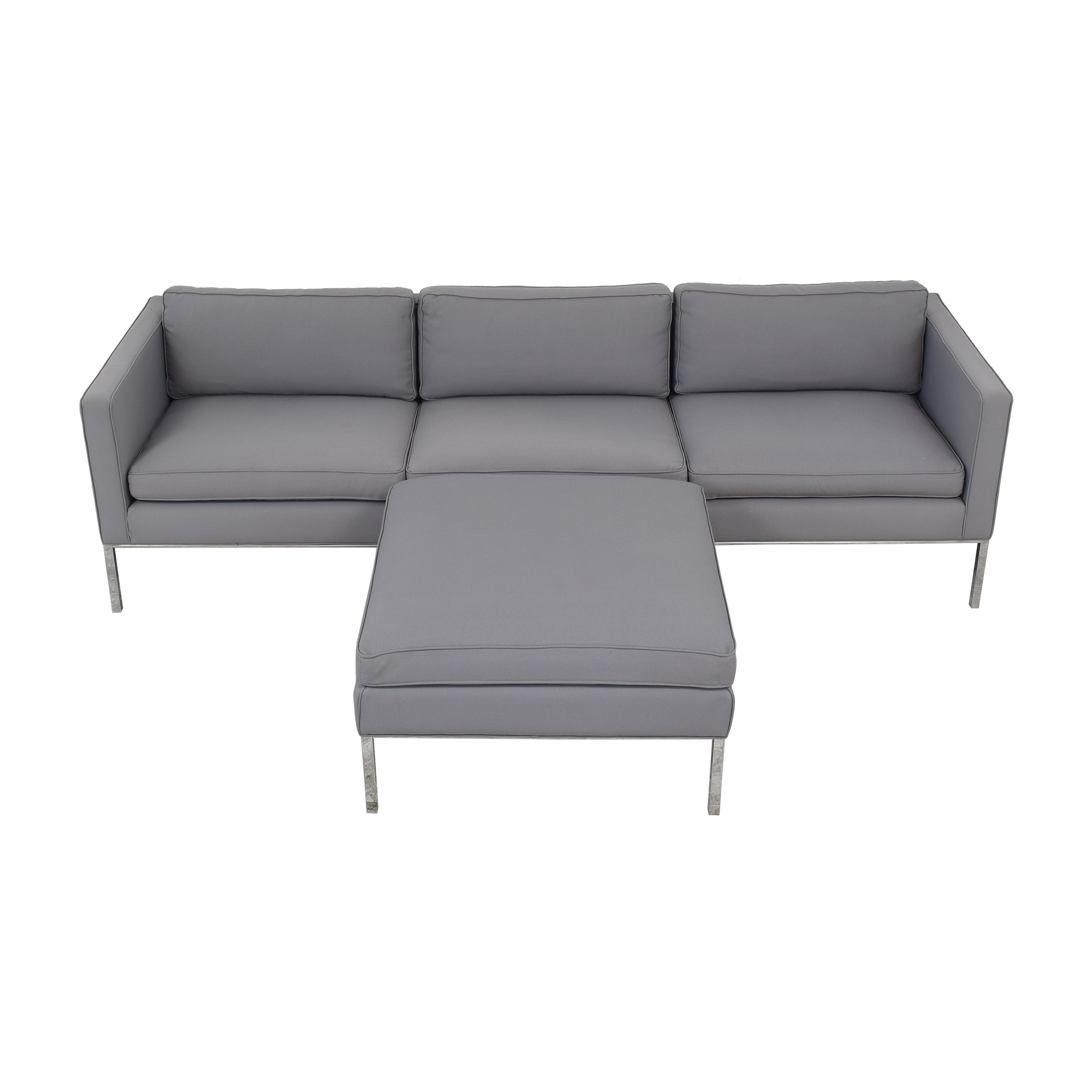 Artifort Artifort 905 3 Seater Sofa with 905 Ottoman dimensions