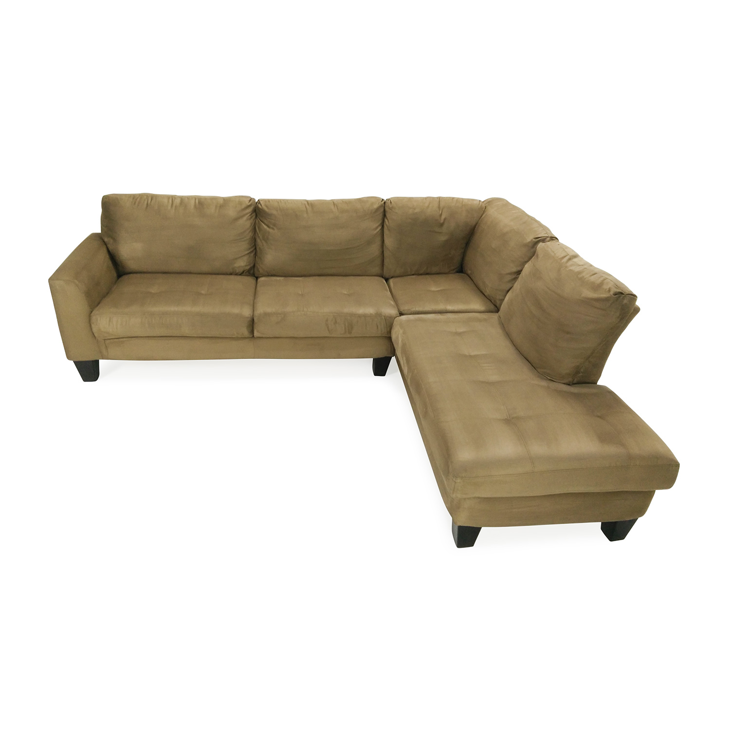 55 off bob39s furniture bob39s furniture brown sectional for Bobs used furniture