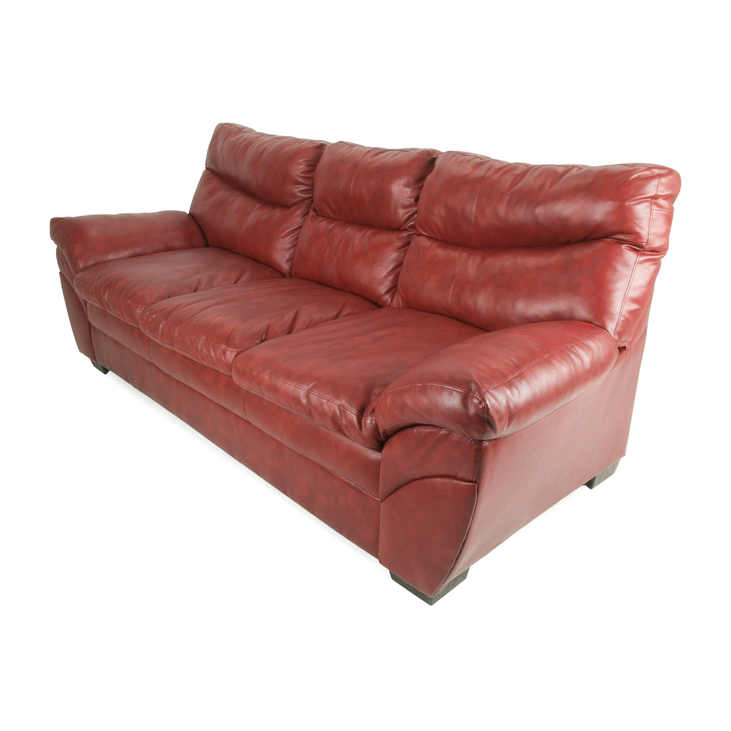 57% OFF Modern Red Leather Sofa Sofas