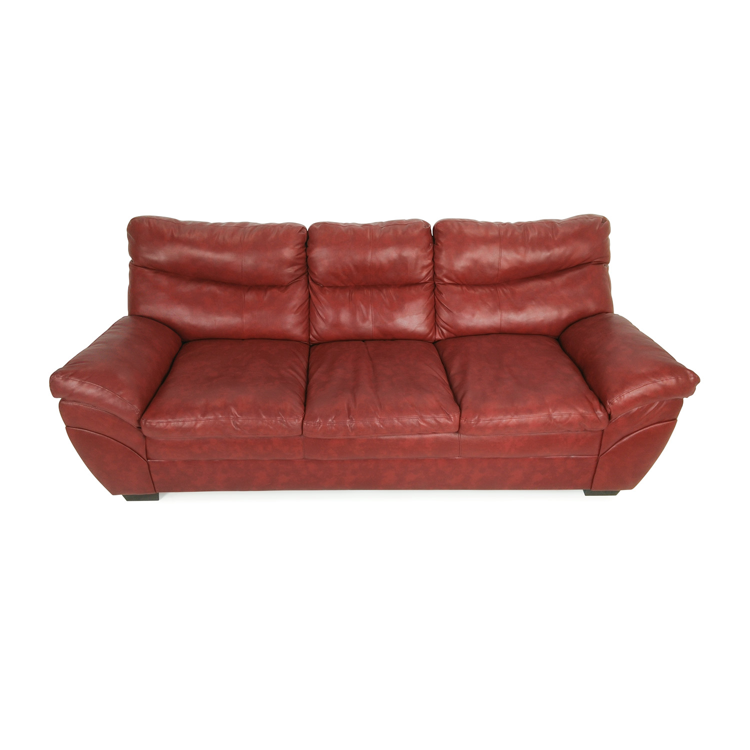 Modern Red Leather Sofa discount