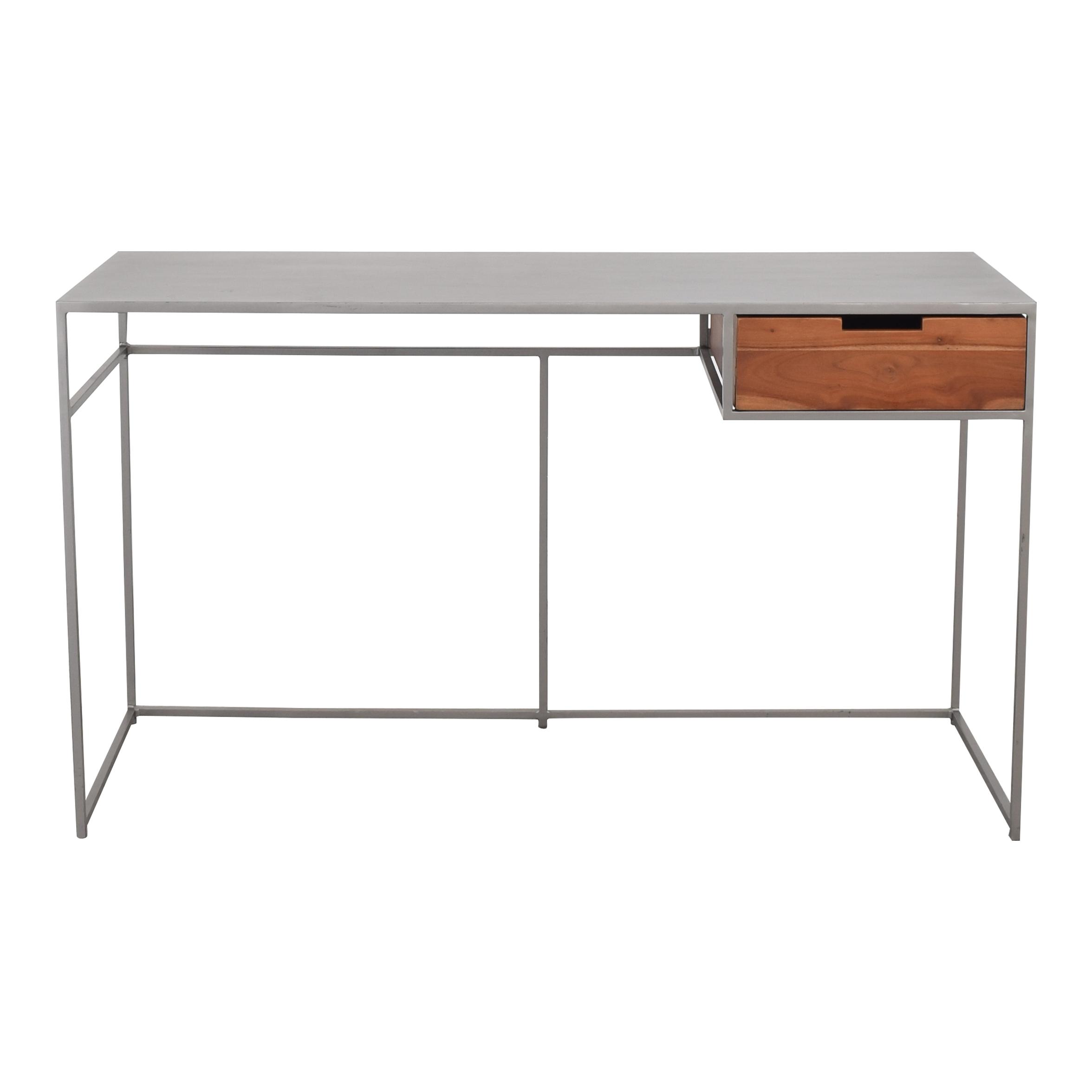 CB2 CB2 Guapo Metal Single Drawer Desk ma