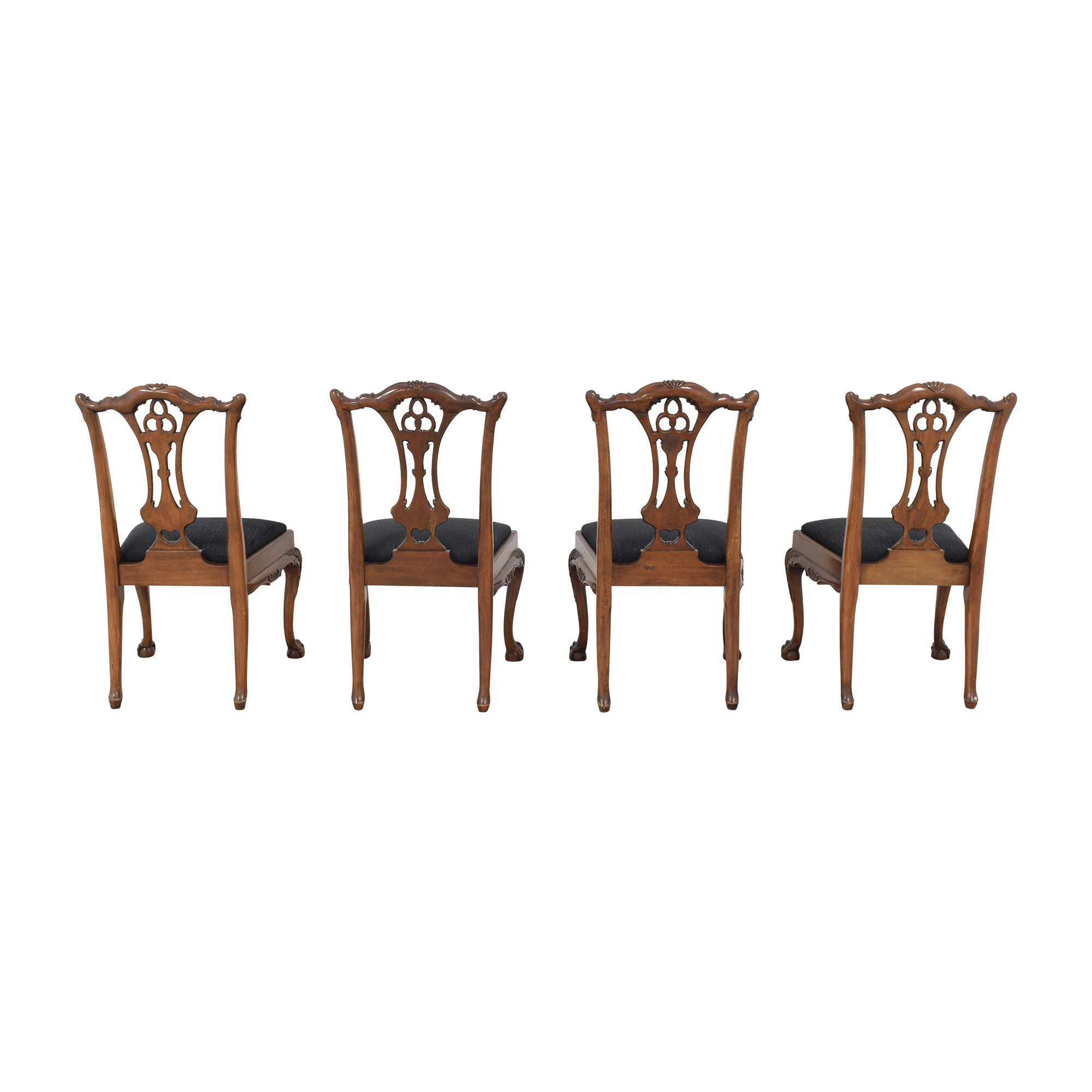 Maitland-Smith Maitland-Smith Carved Chippendale Style Dining Chairs discount