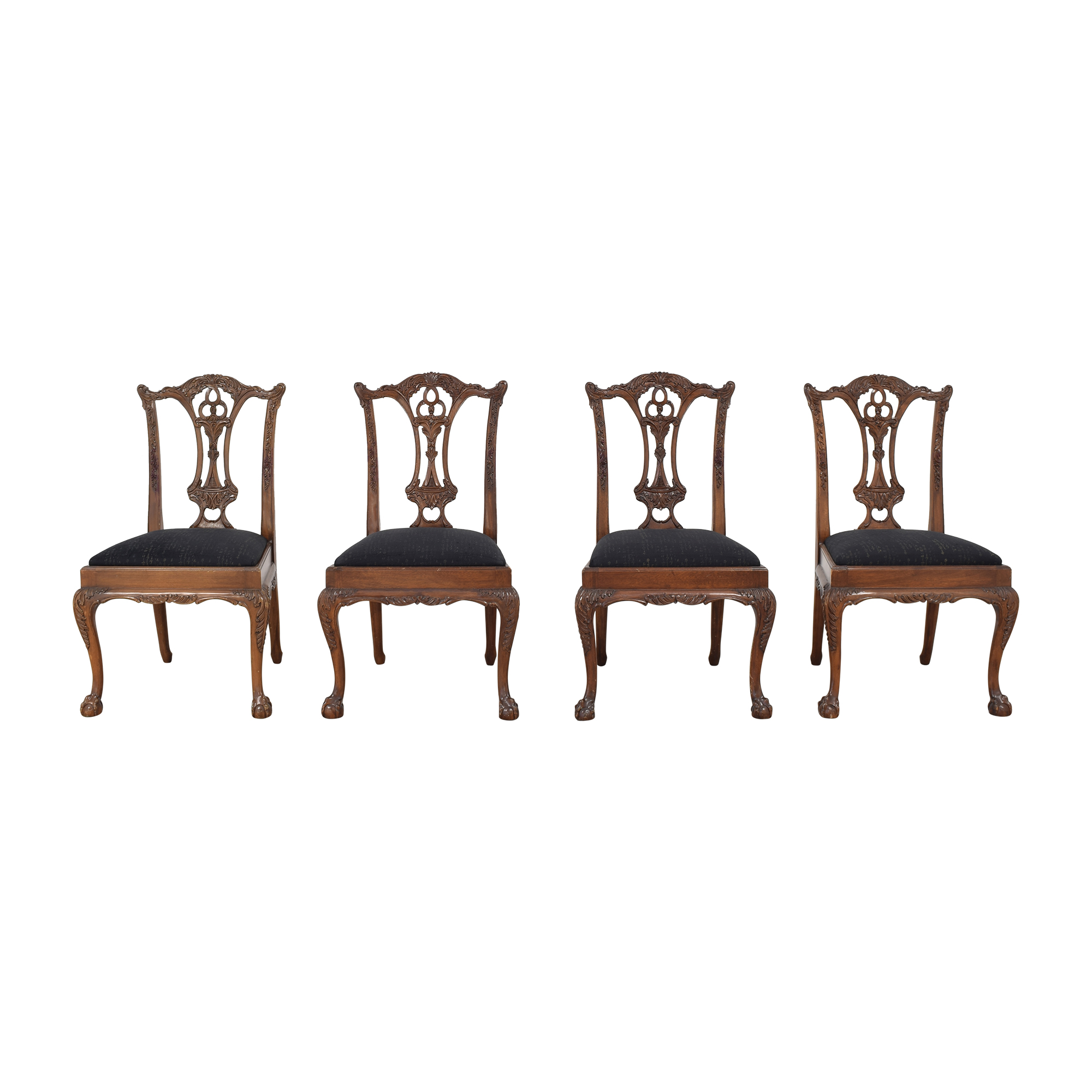 Maitland-Smith Maitland-Smith Carved Chippendale Style Dining Chairs