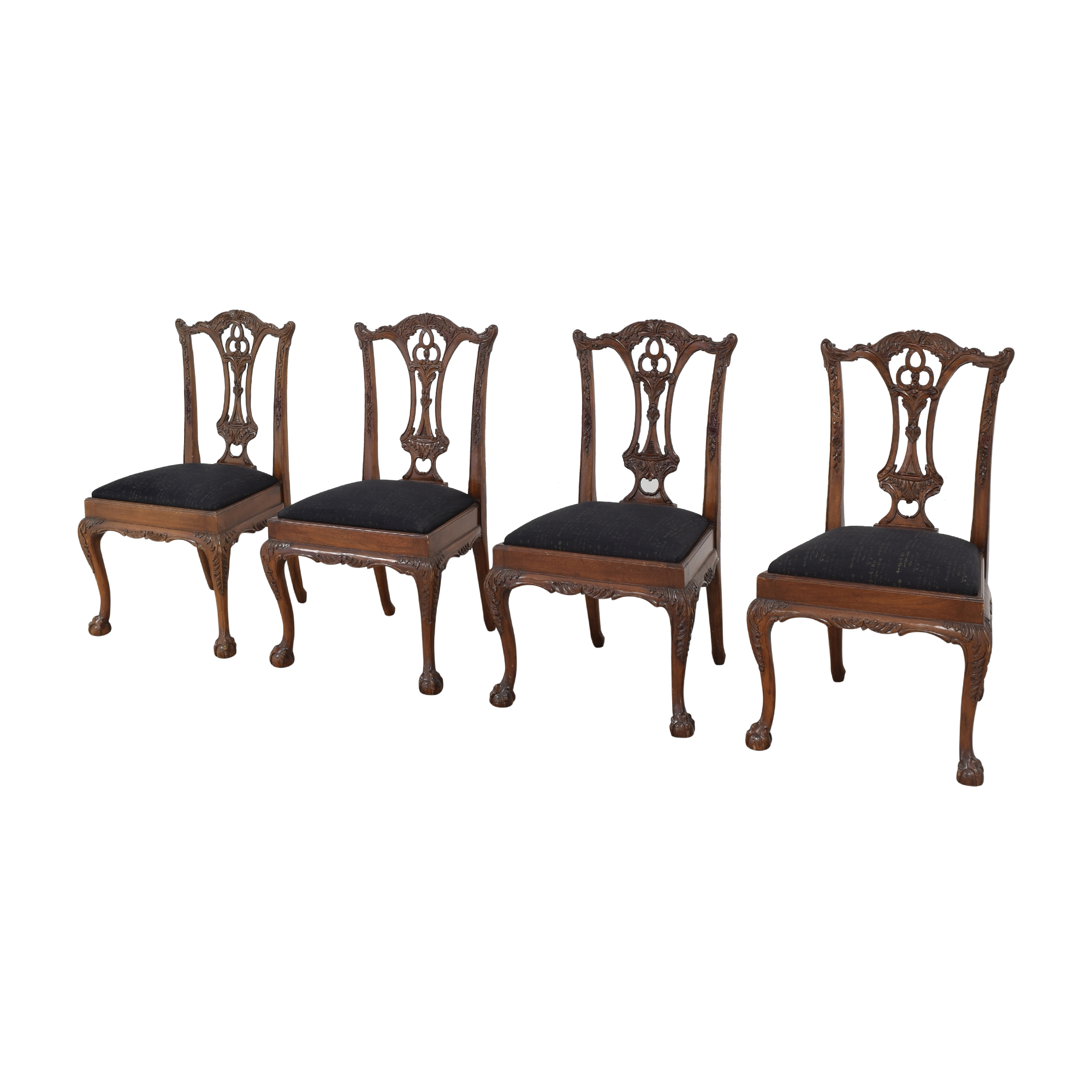 Maitland-Smith Maitland-Smith Carved Chippendale Style Dining Chairs dimensions