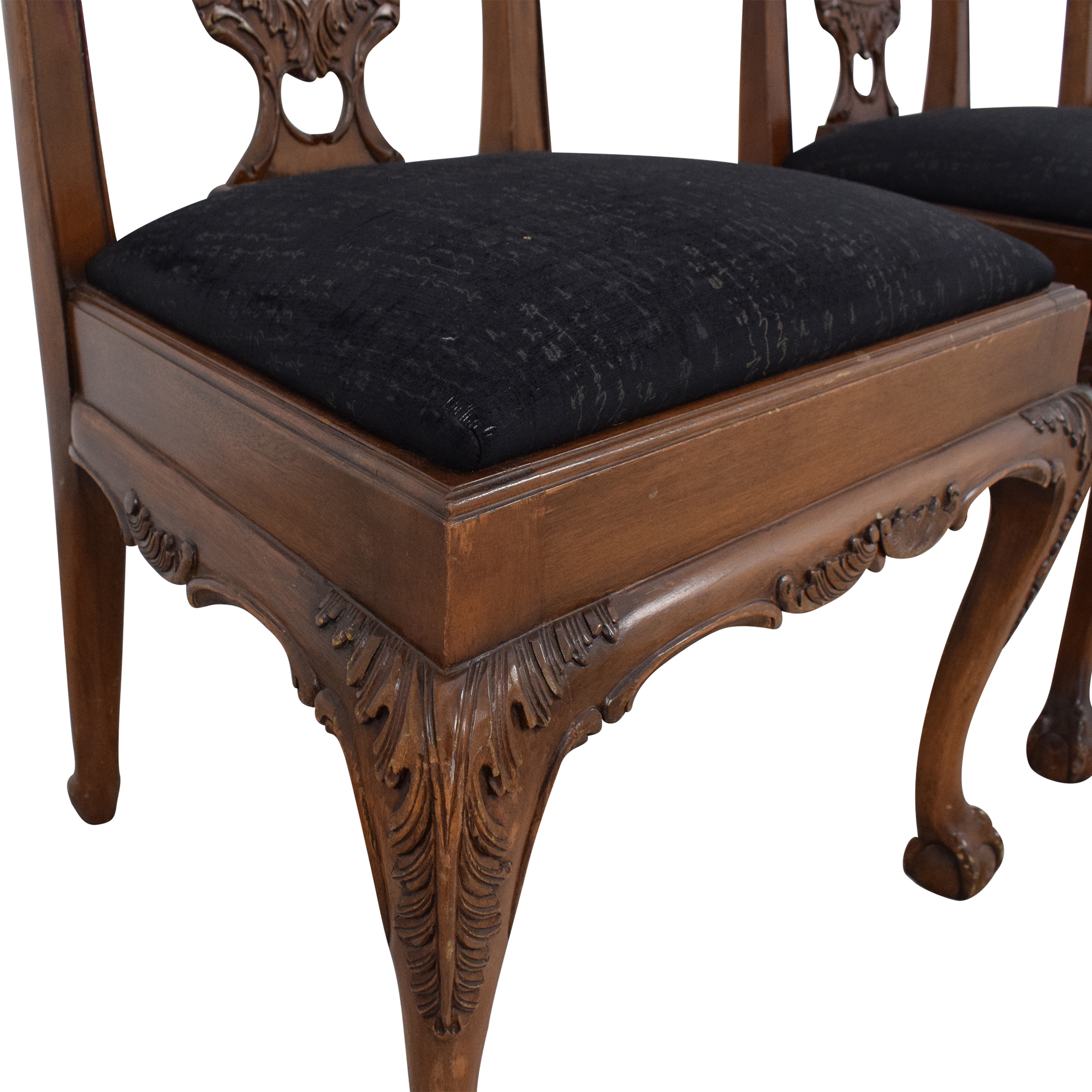 buy Maitland-Smith Carved Chippendale Style Dining Chairs Maitland-Smith Dining Chairs