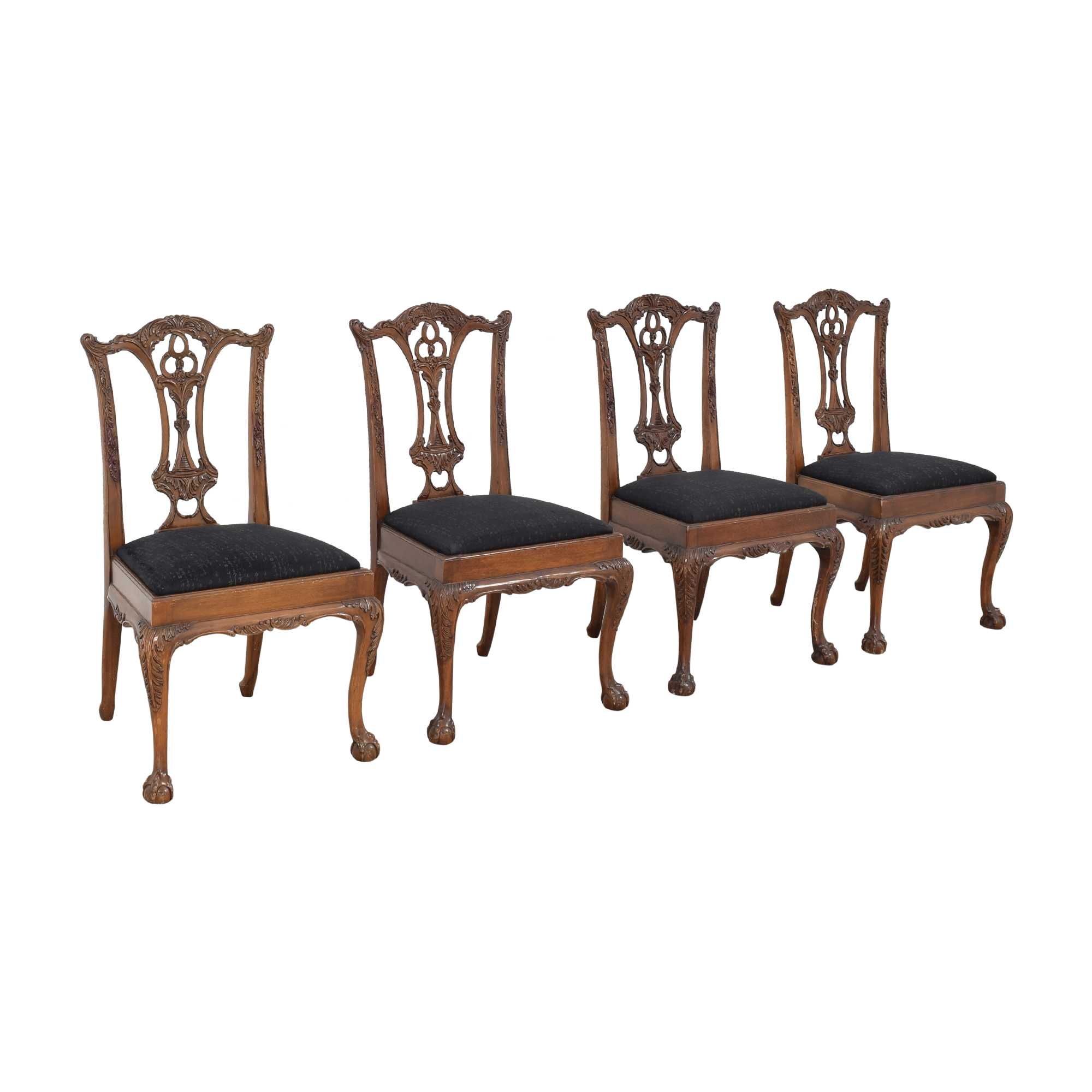 Maitland-Smith Maitland-Smith Carved Chippendale Style Dining Chairs for sale