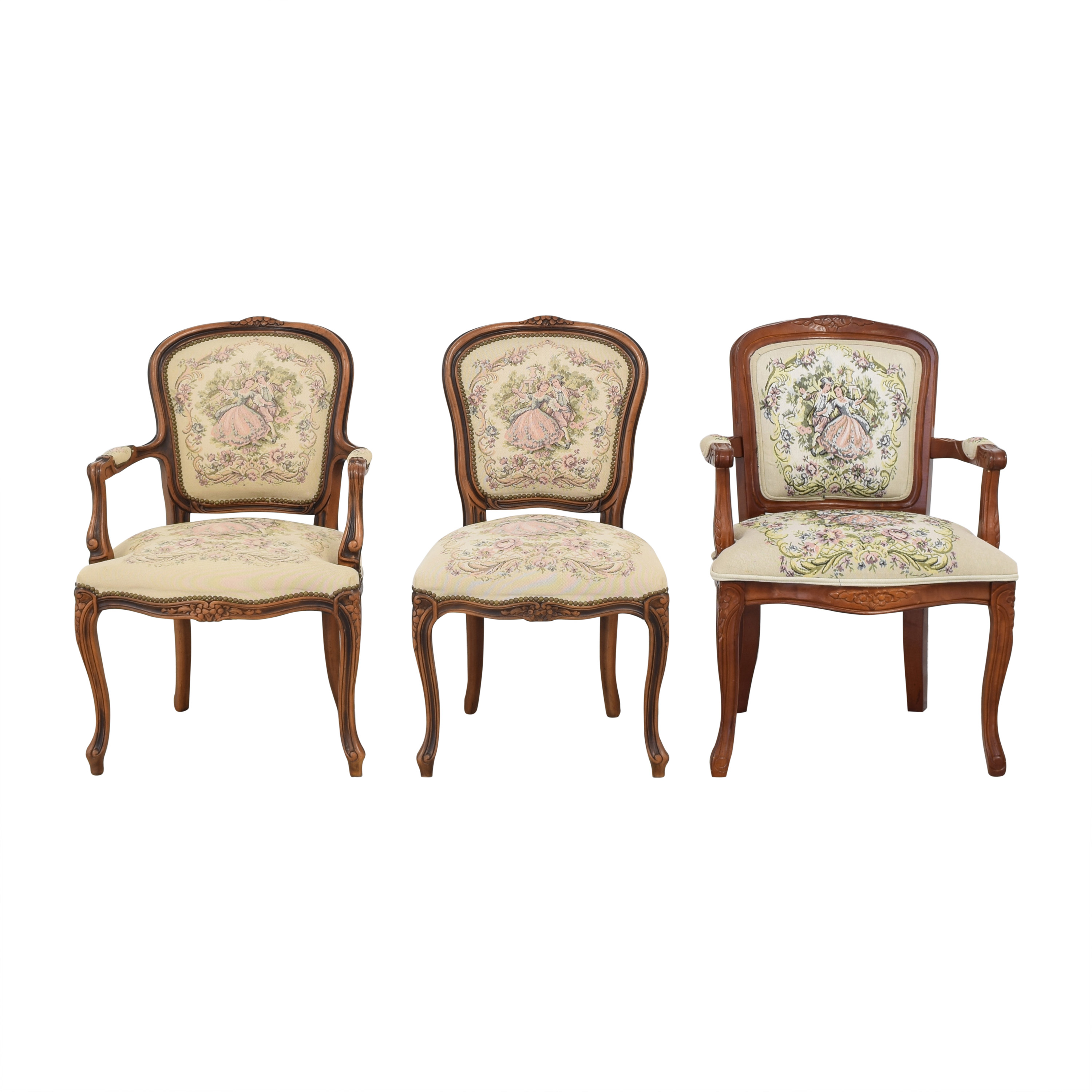 Chateau d'Ax Chateau d'Ax French Provincial Style Dining Chairs ma