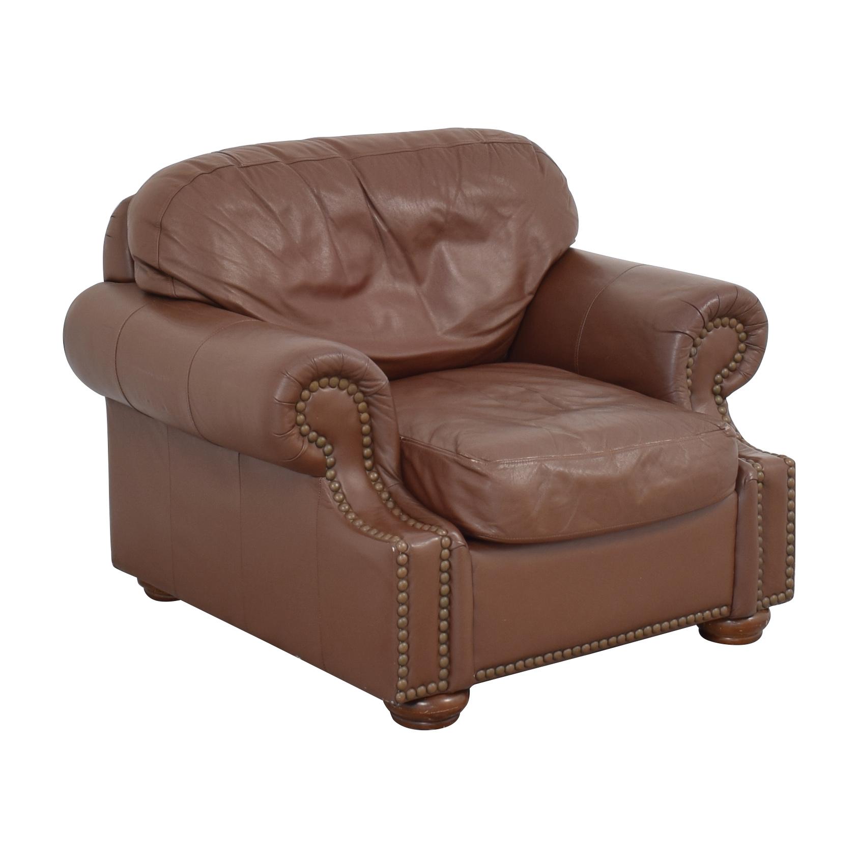 Arhaus Arhaus Nailhead Trim Club Chair Accent Chairs