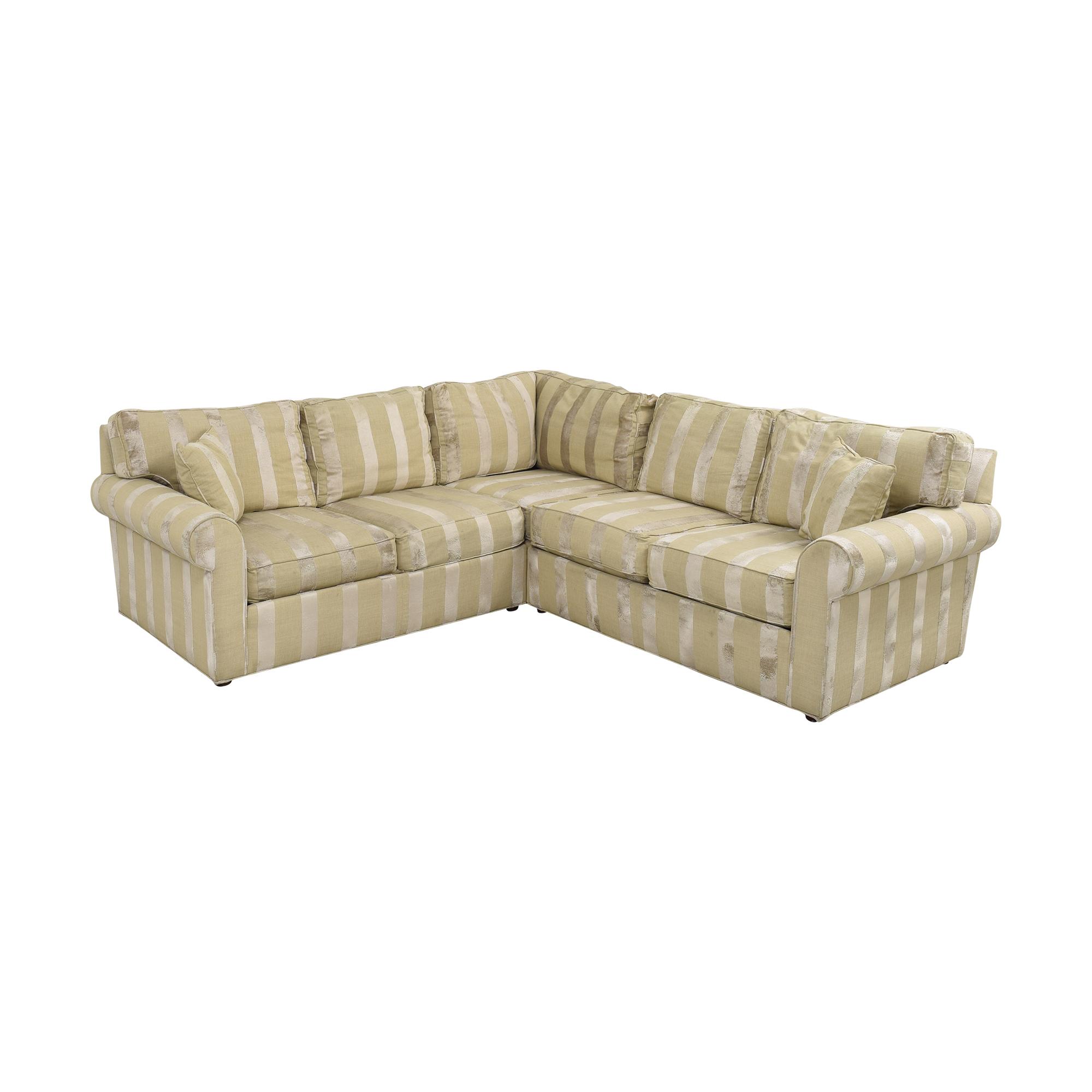 shop Ethan Allen Bennet Sectional Sofa Ethan Allen Sectionals