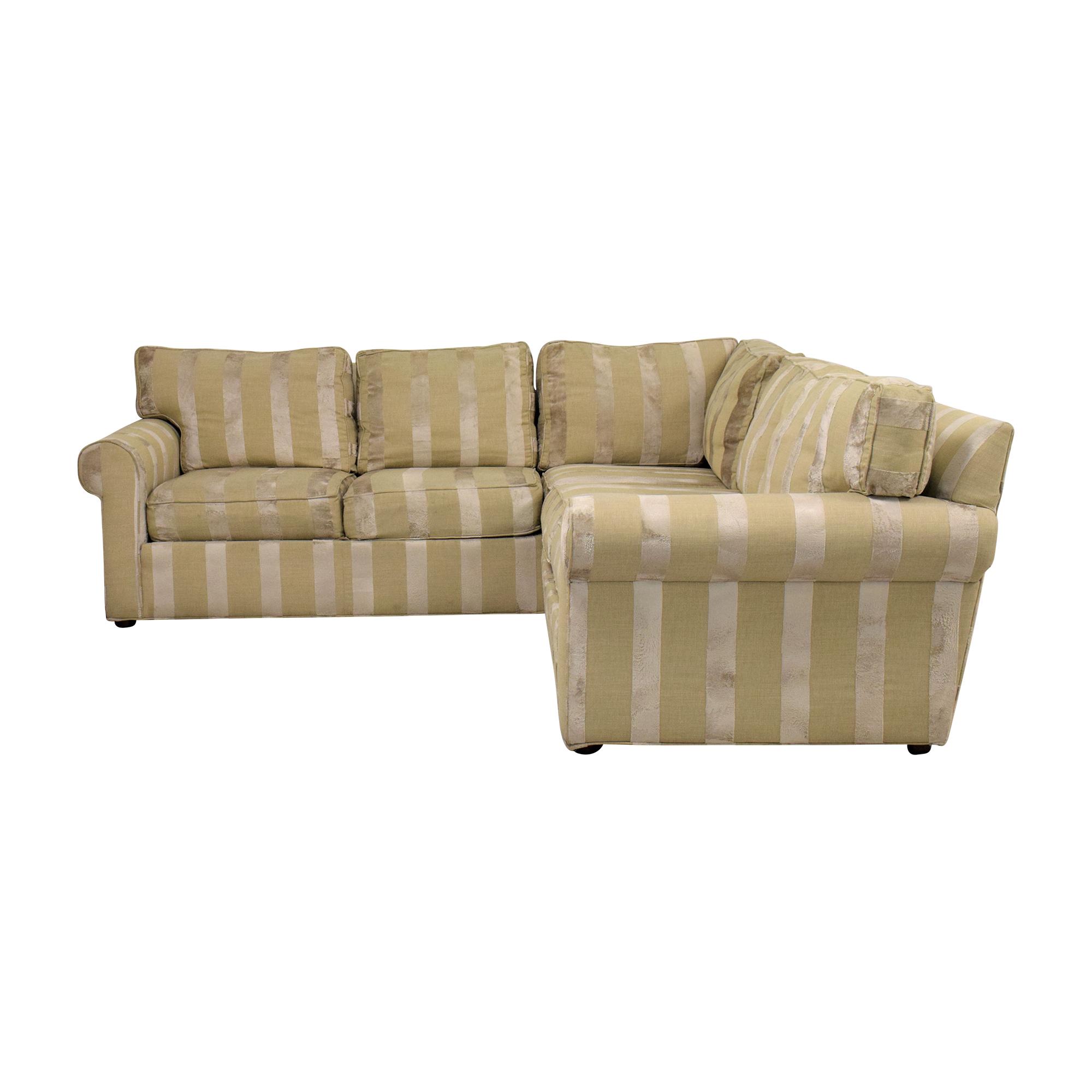 Ethan Allen Ethan Allen Bennet Sectional Sofa tan