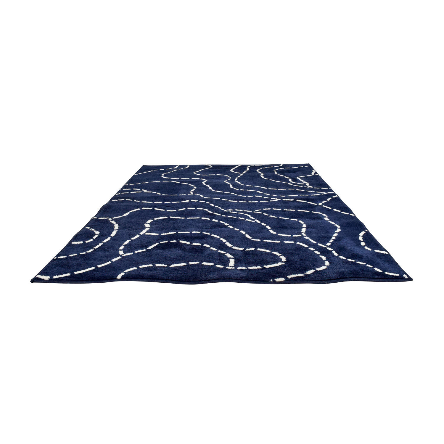 Unknown Brand Patterned Navy Floor Rug nyc