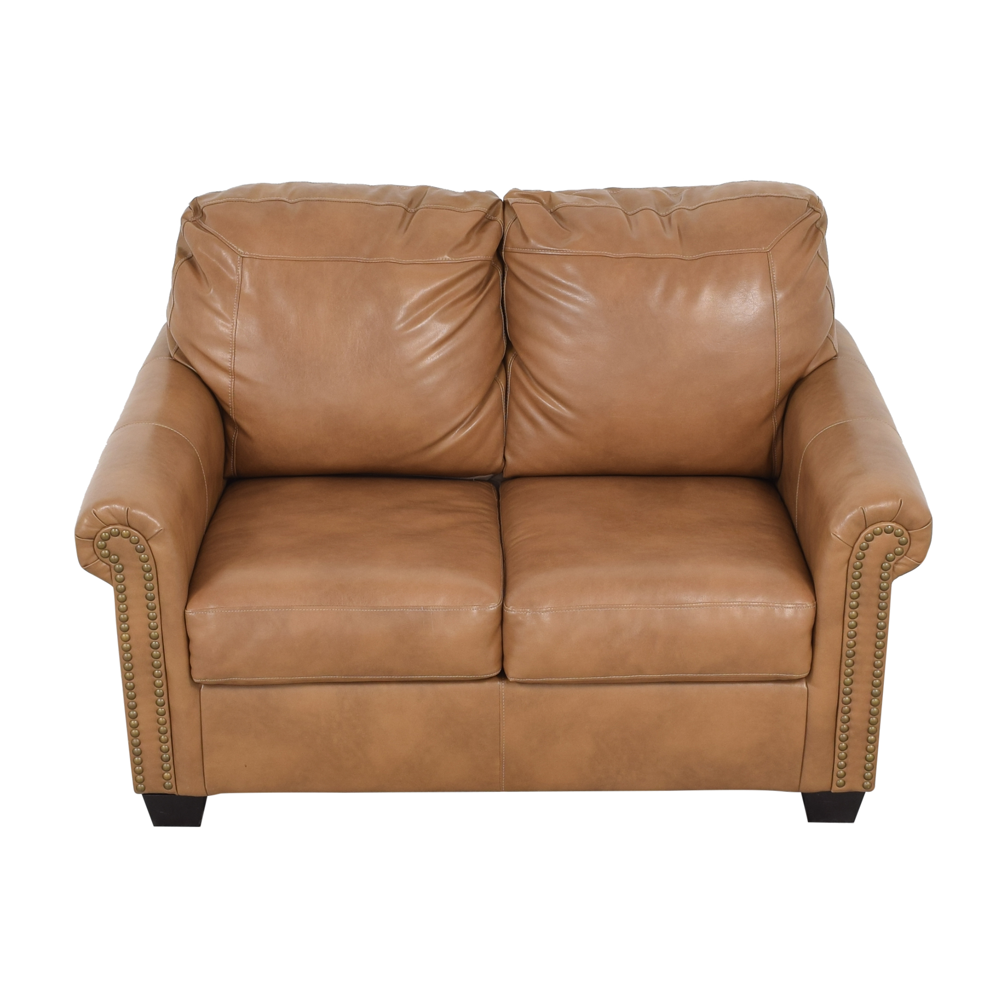 shop Overstock Caramel Leather Twin Pull Out Sofa Overstock Sofas