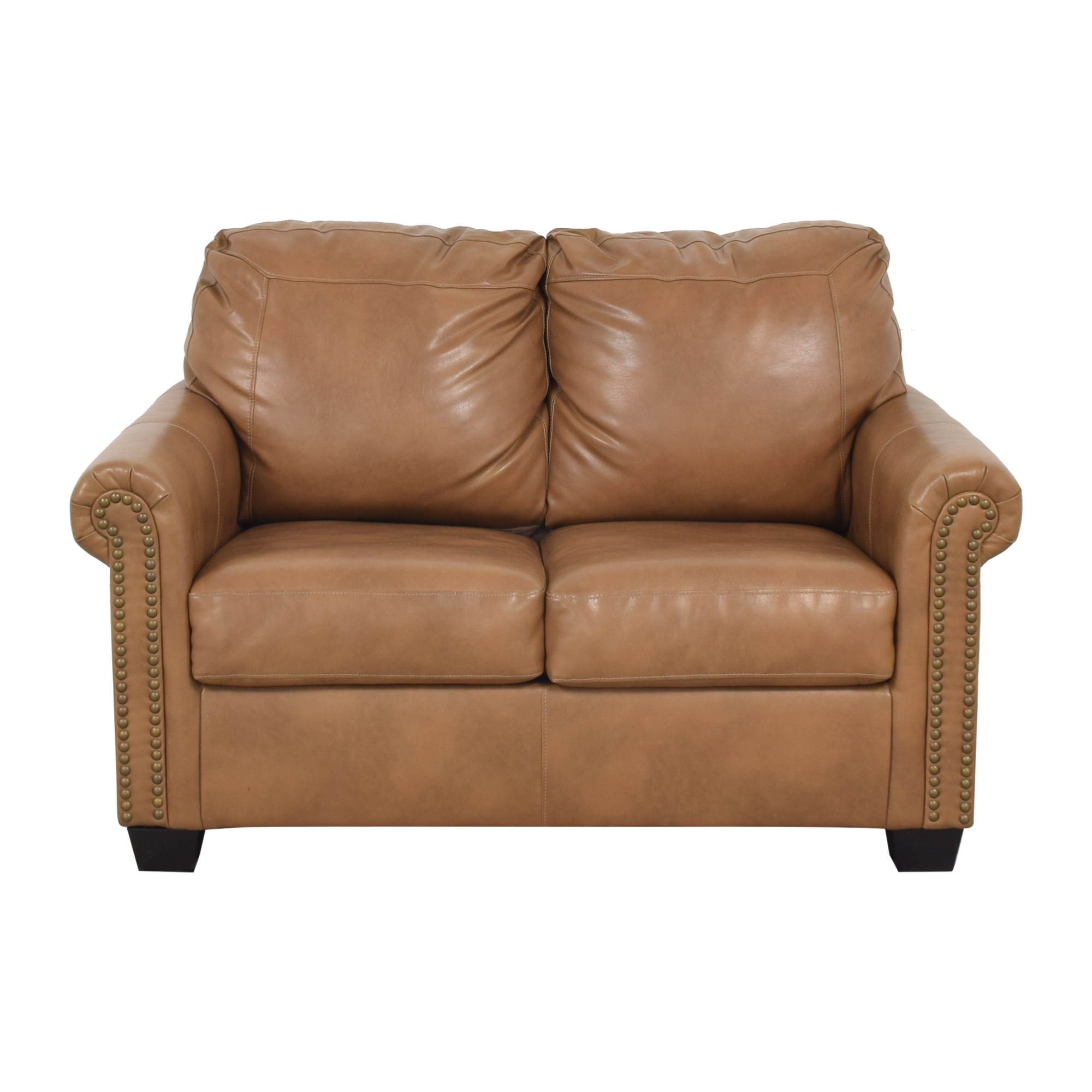 buy Overstock Caramel Leather Twin Pull Out Sofa Overstock Sofa Beds