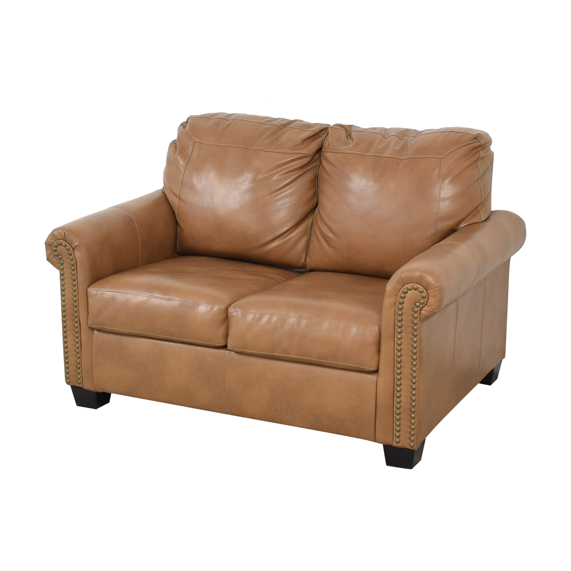 shop Overstock Caramel Leather Twin Pull Out Sofa Overstock Sofa Beds