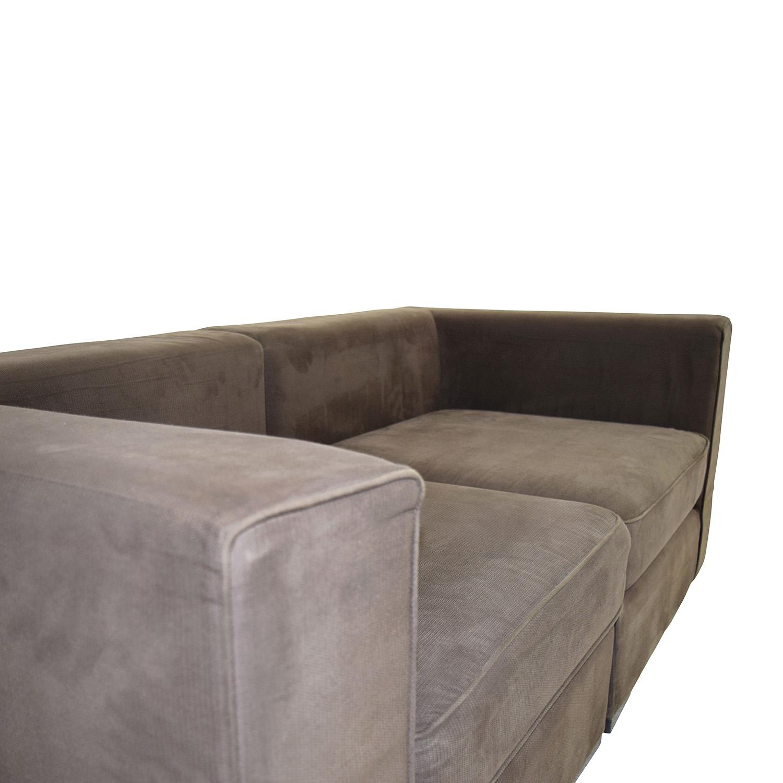 59 off west elm west elm brown modular sofa sofas. Black Bedroom Furniture Sets. Home Design Ideas