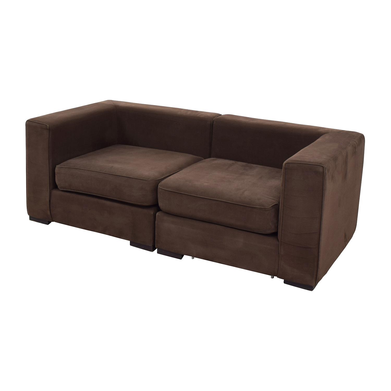 59% OFF West Elm West Elm Brown Modular Sofa Sofas