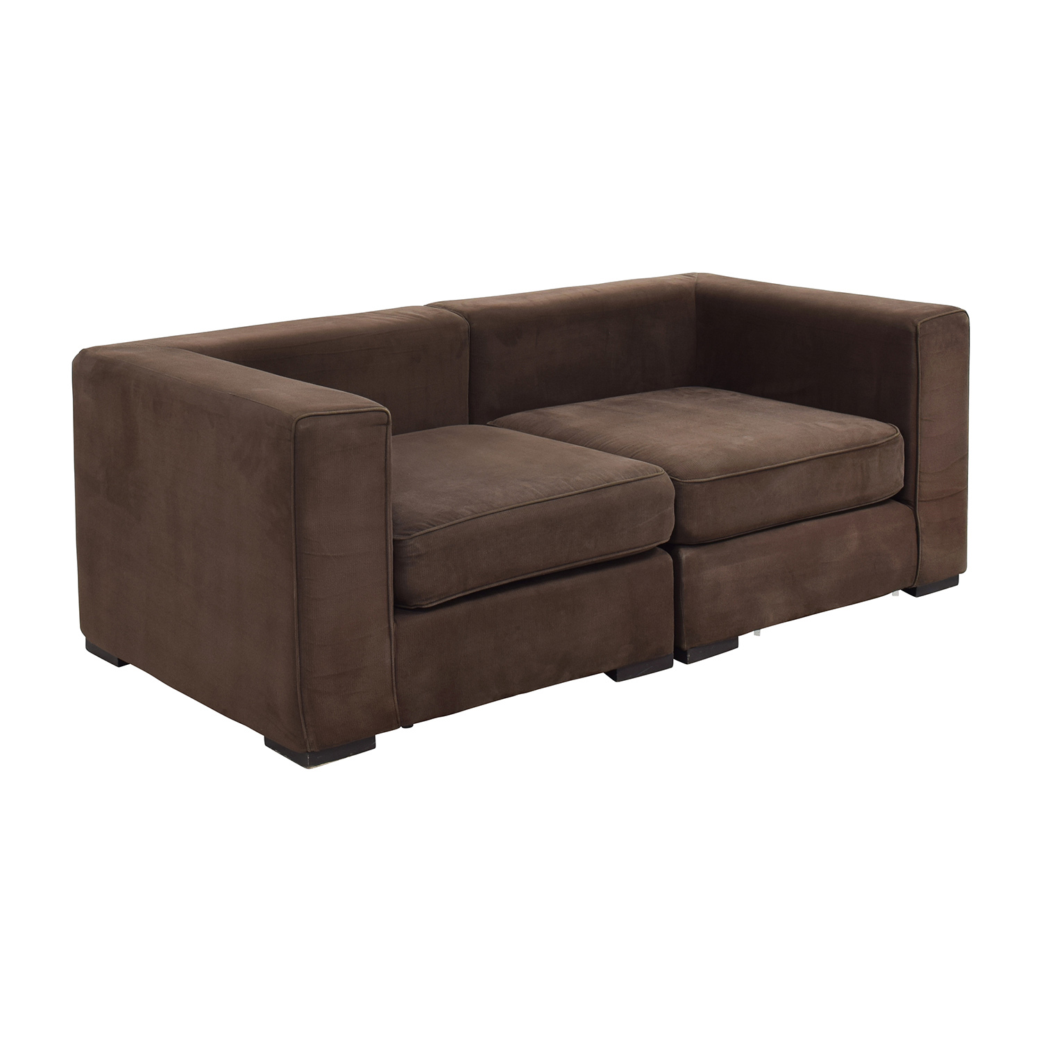 59 off west elm west elm brown modular sofa sofas for Best west elm sofa