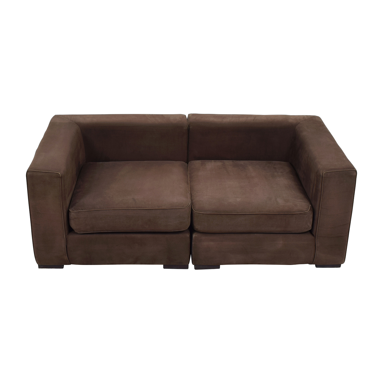 West Elm Brown Modular Sofa West Elm