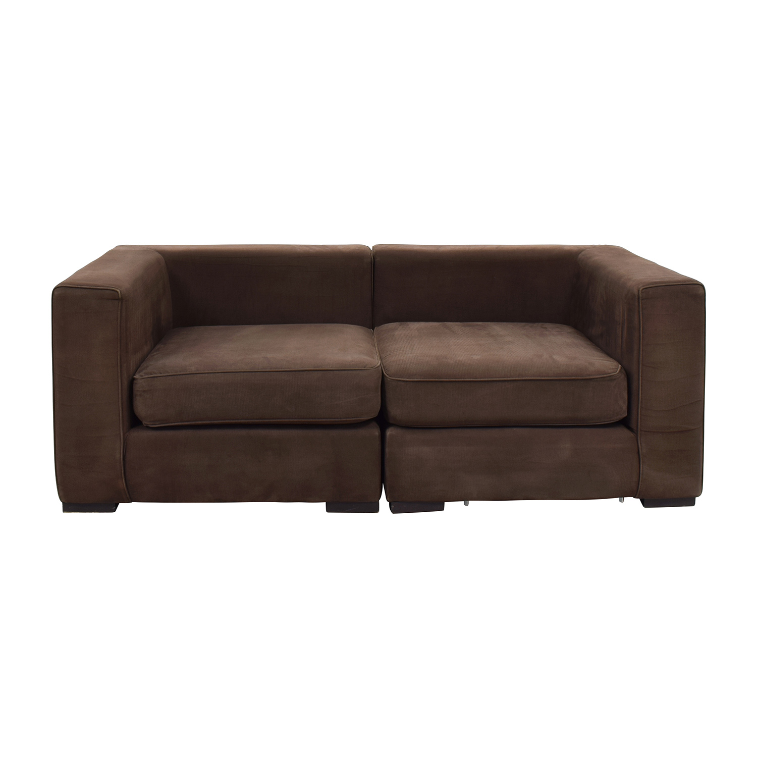 West Elm West Elm Brown Modular Sofa Dark Chocolate
