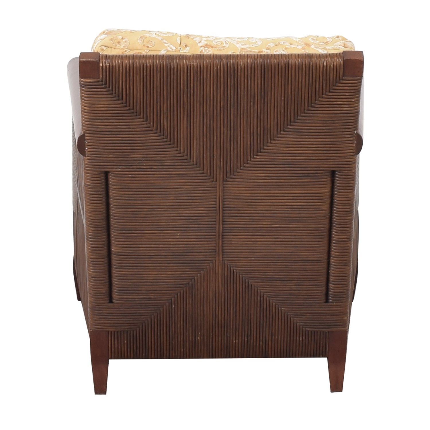 shop Donghia by John Hutton Mahogany and Wicker Lounger Donghia Chairs