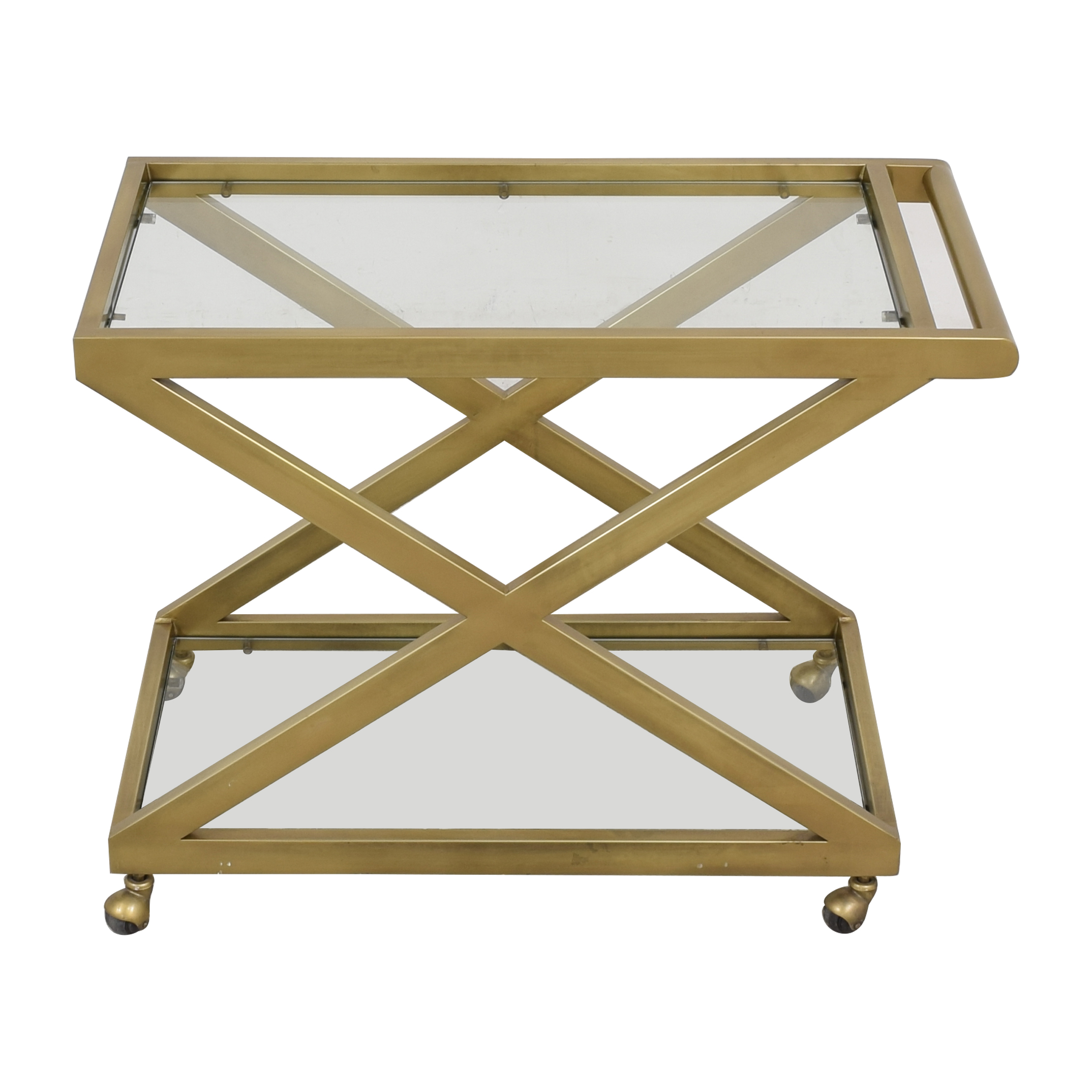 buy Restoration Hardware 1950's Milo Bar Cart Restoration Hardware Tables