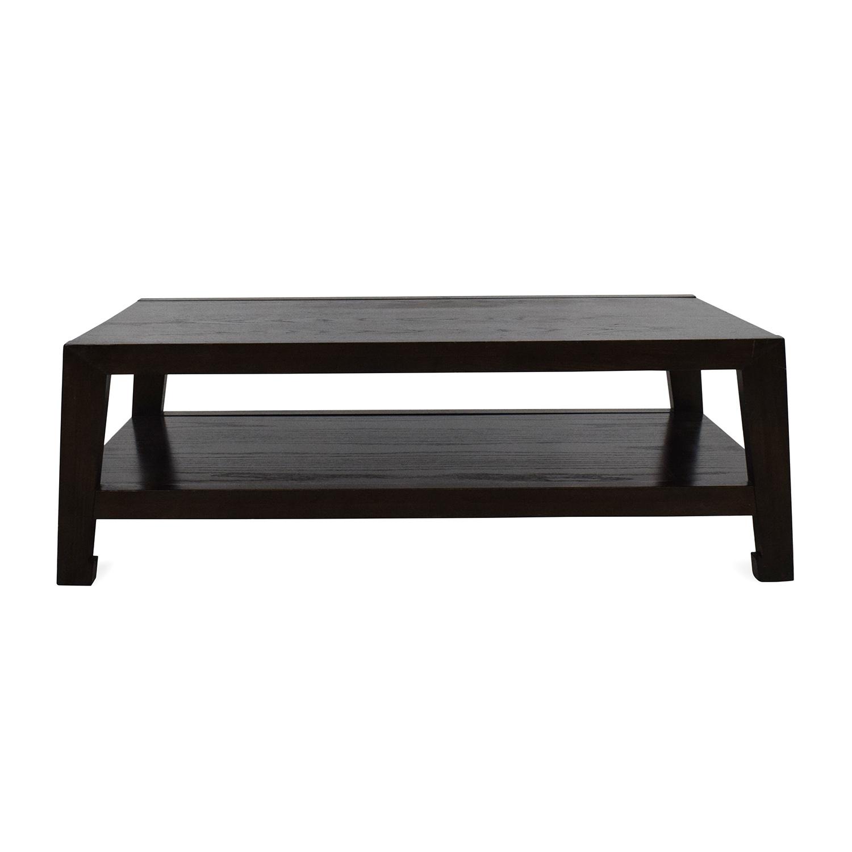 52 Off Dark Wood Coffee Table Tables