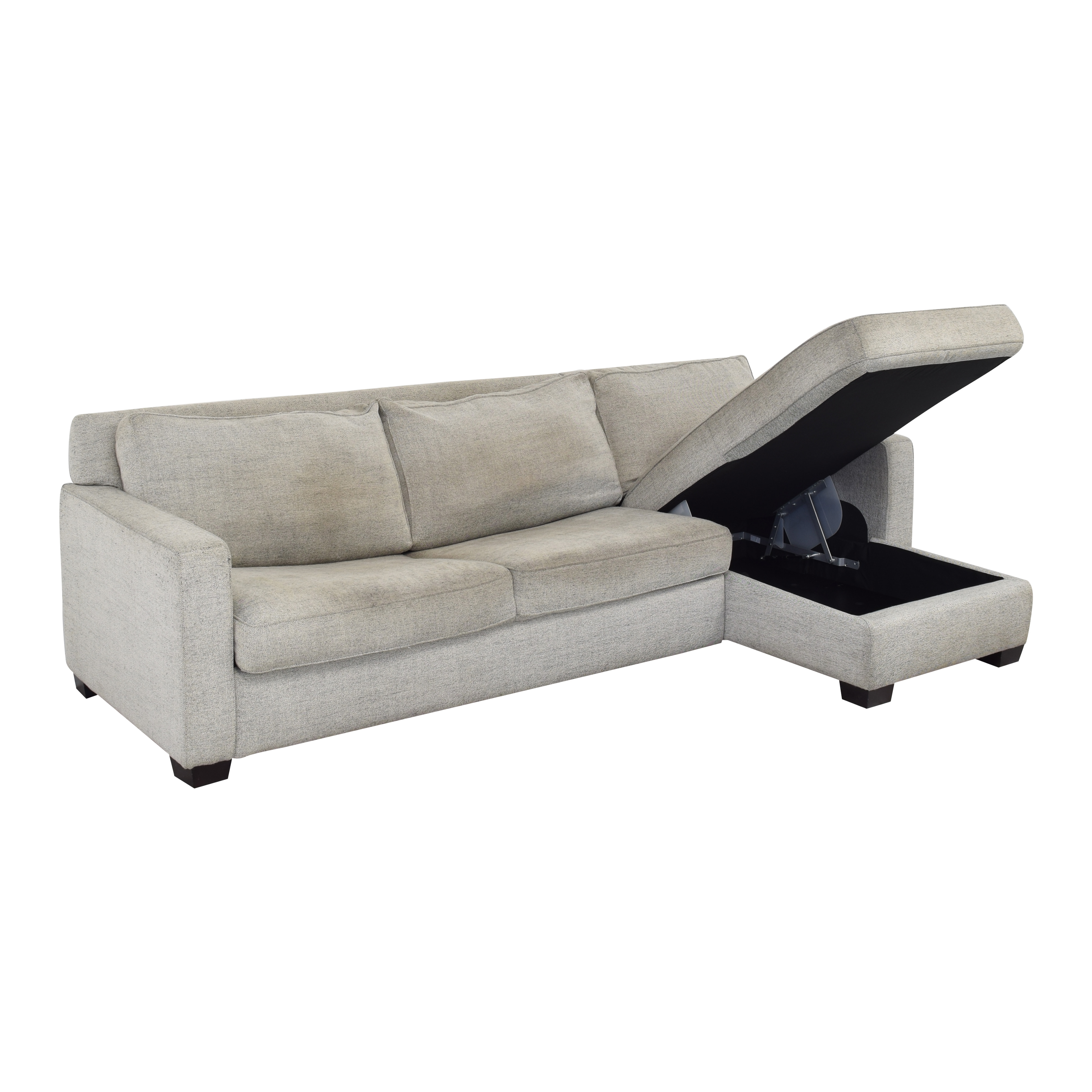 shop West Elm Henry Two Piece Queen Sectional Sleeper with Storage West Elm Sofas