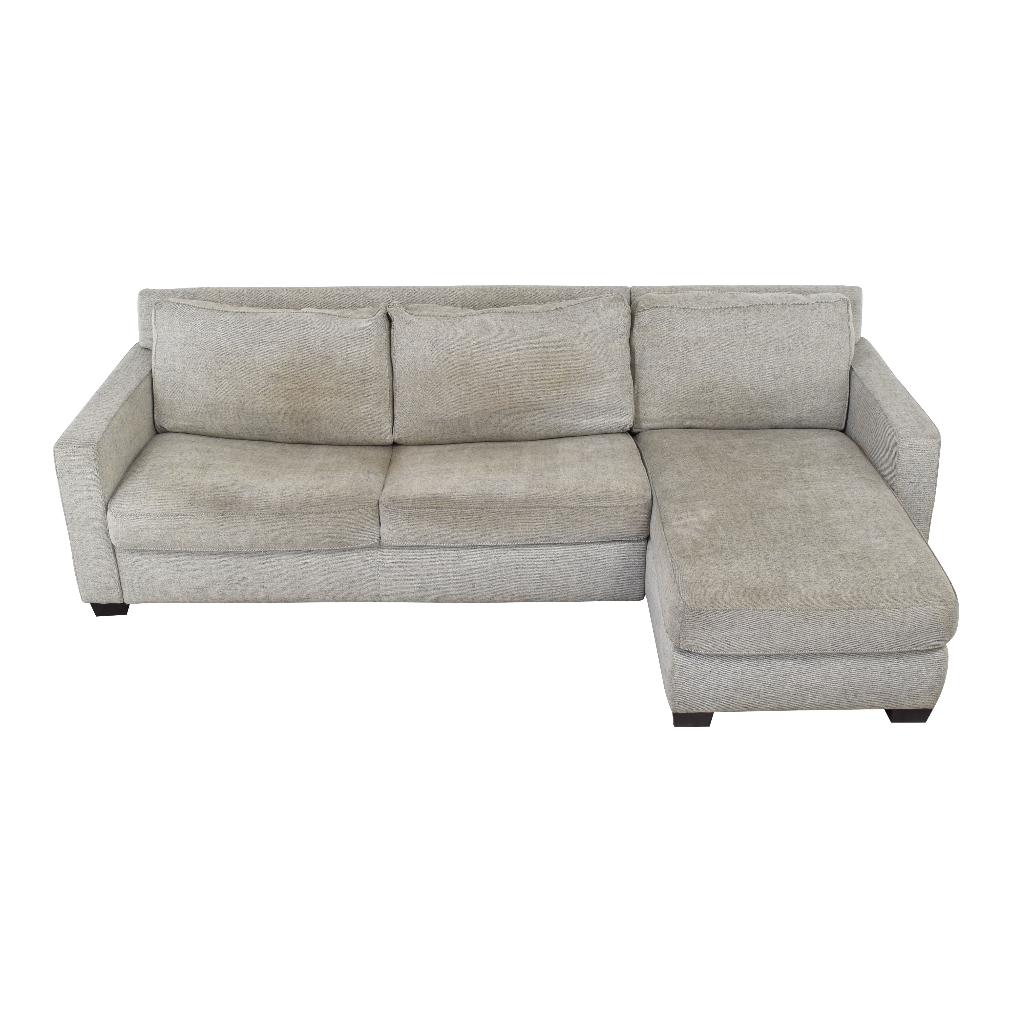 West Elm West Elm Henry Two Piece Queen Sectional Sleeper with Storage nj