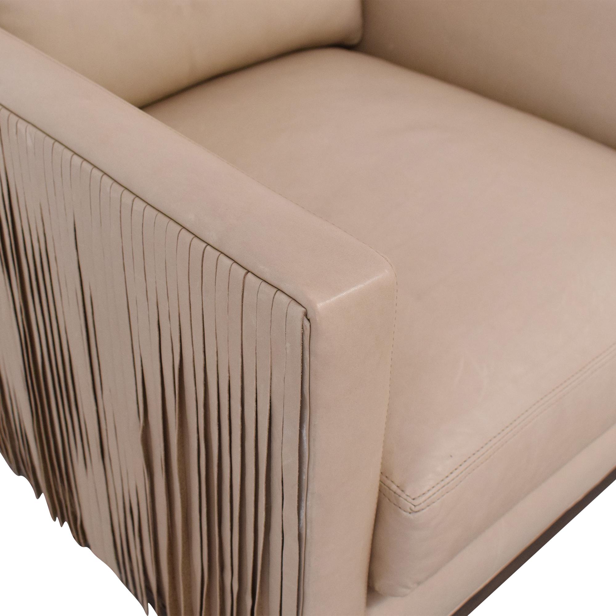 Lee Industries Lee Industries Leather Fringe Chair on sale