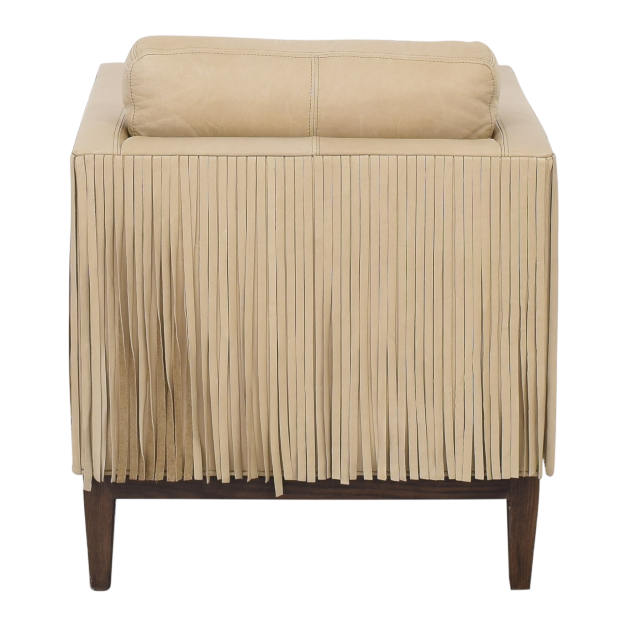 Lee Industries Lee Industries Leather Fringe Chair Accent Chairs