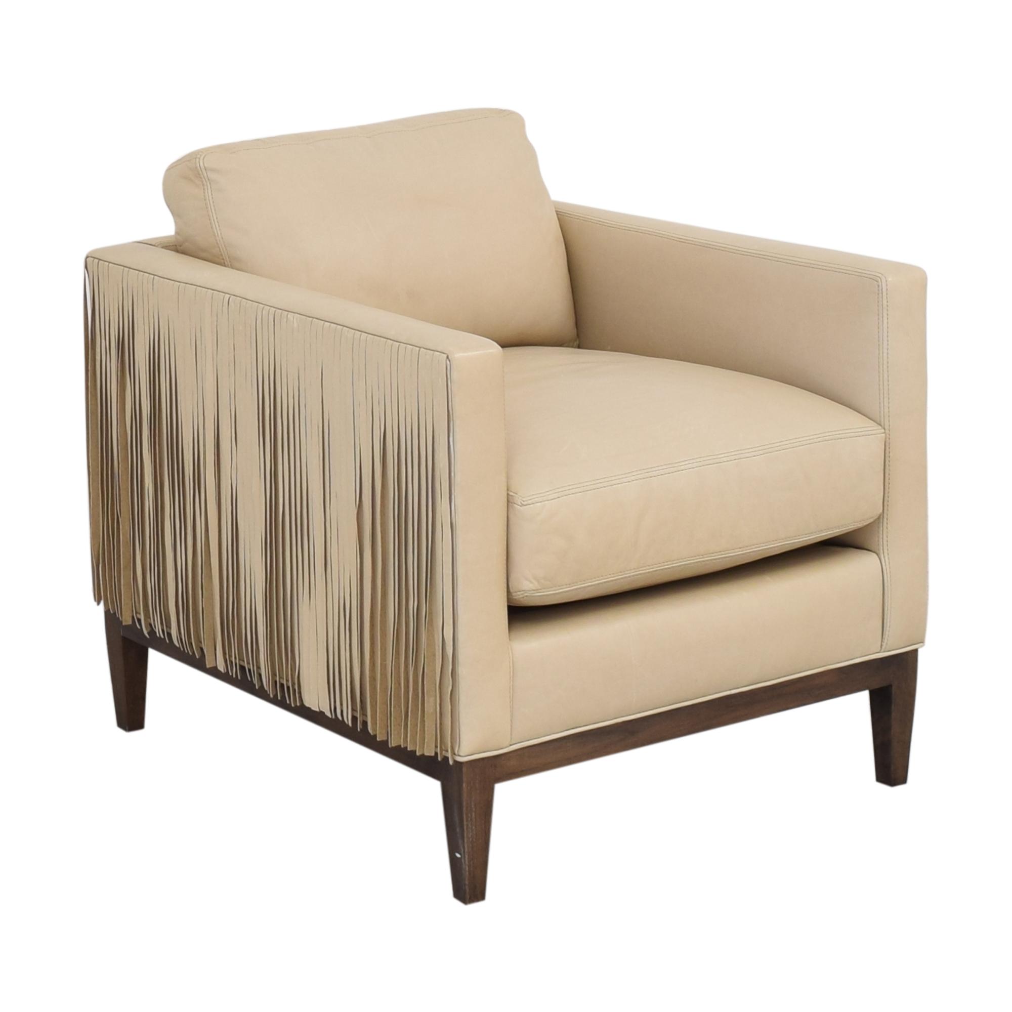 Lee Industries Lee Industries Leather Fringe Chair nyc