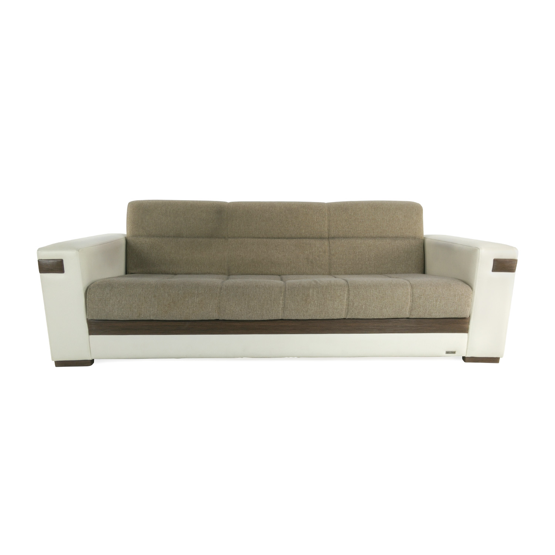 64% OFF Vintage Mid Century White Single Cushion Sofa Sofas