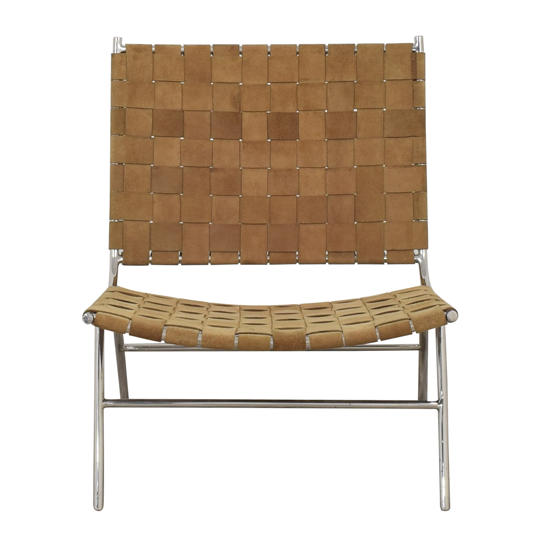 shop CB2 Woven Suede Chair CB2