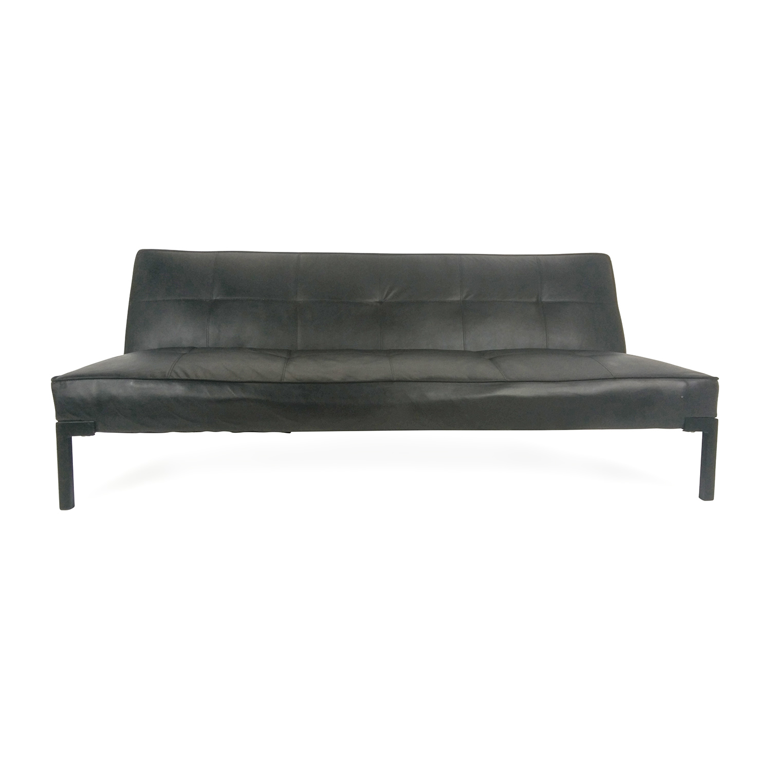 French Make French Make Leather Adjustable Futon Nyc ...