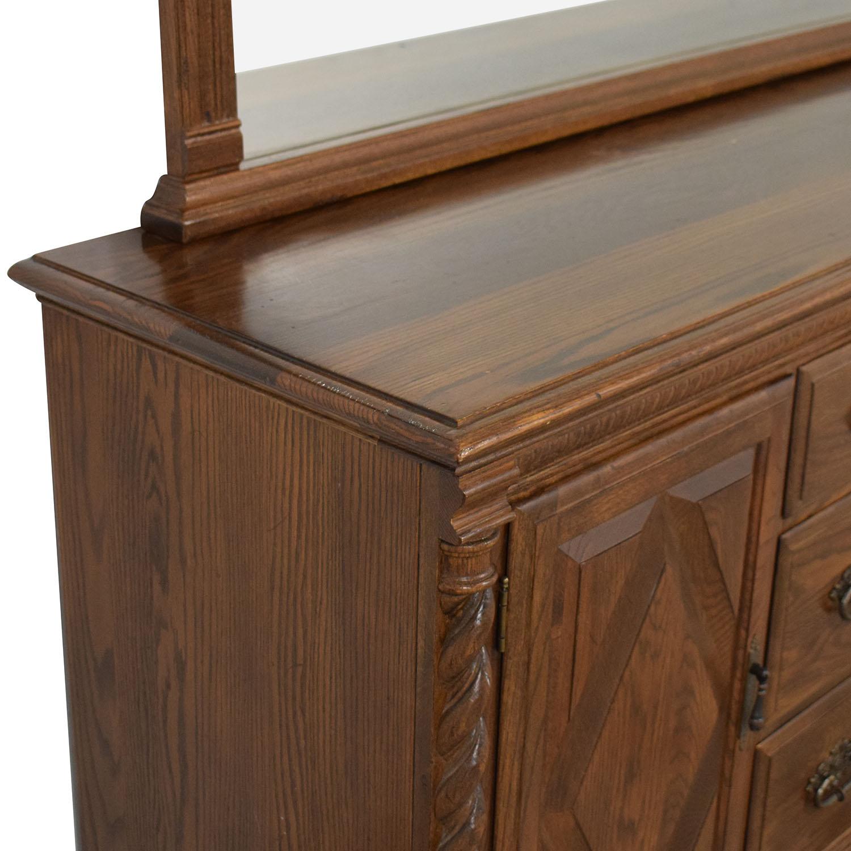 buy Ethan Allen Dresser with Mirror Ethan Allen
