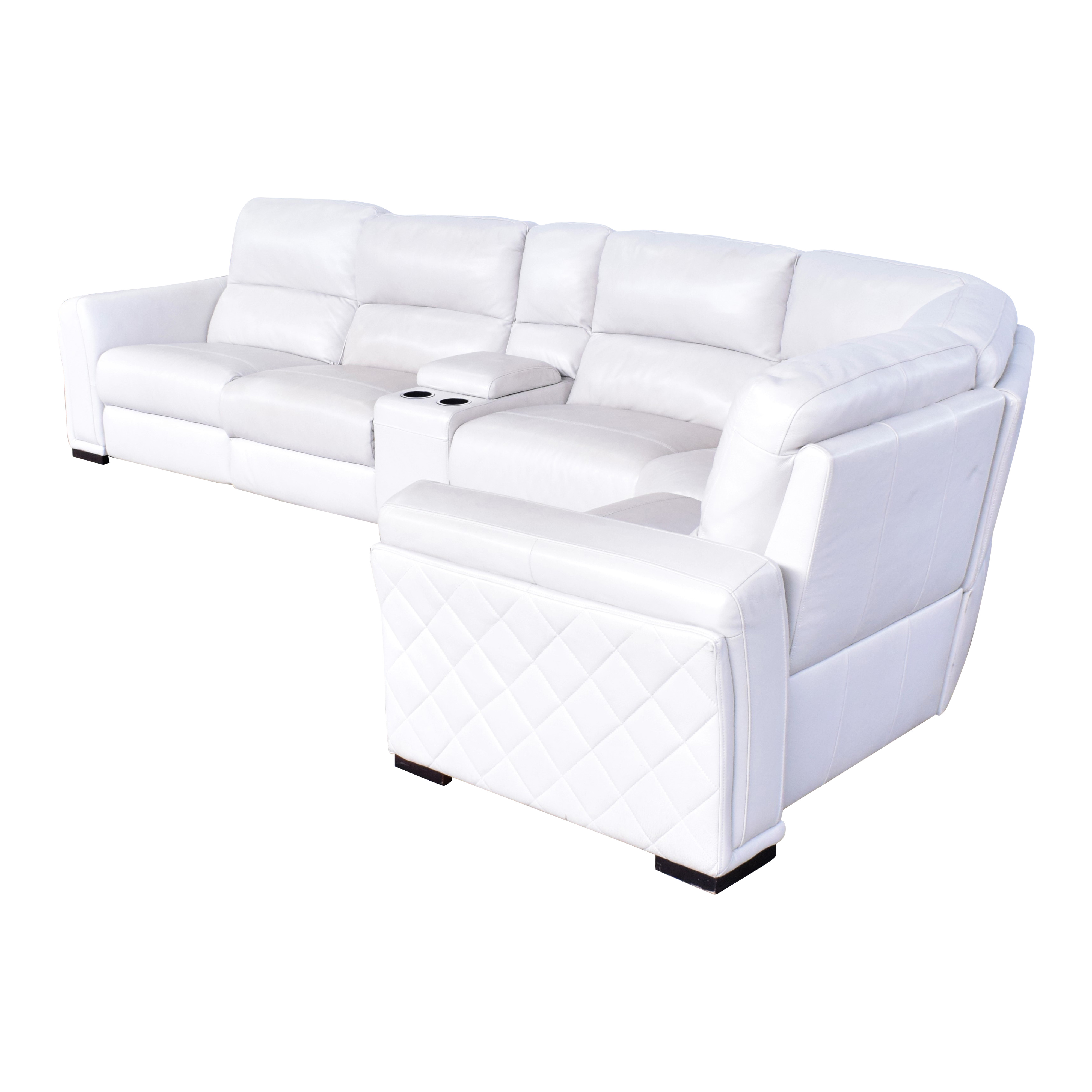 Macy's Macy's Recliner Wedge Sectional off white