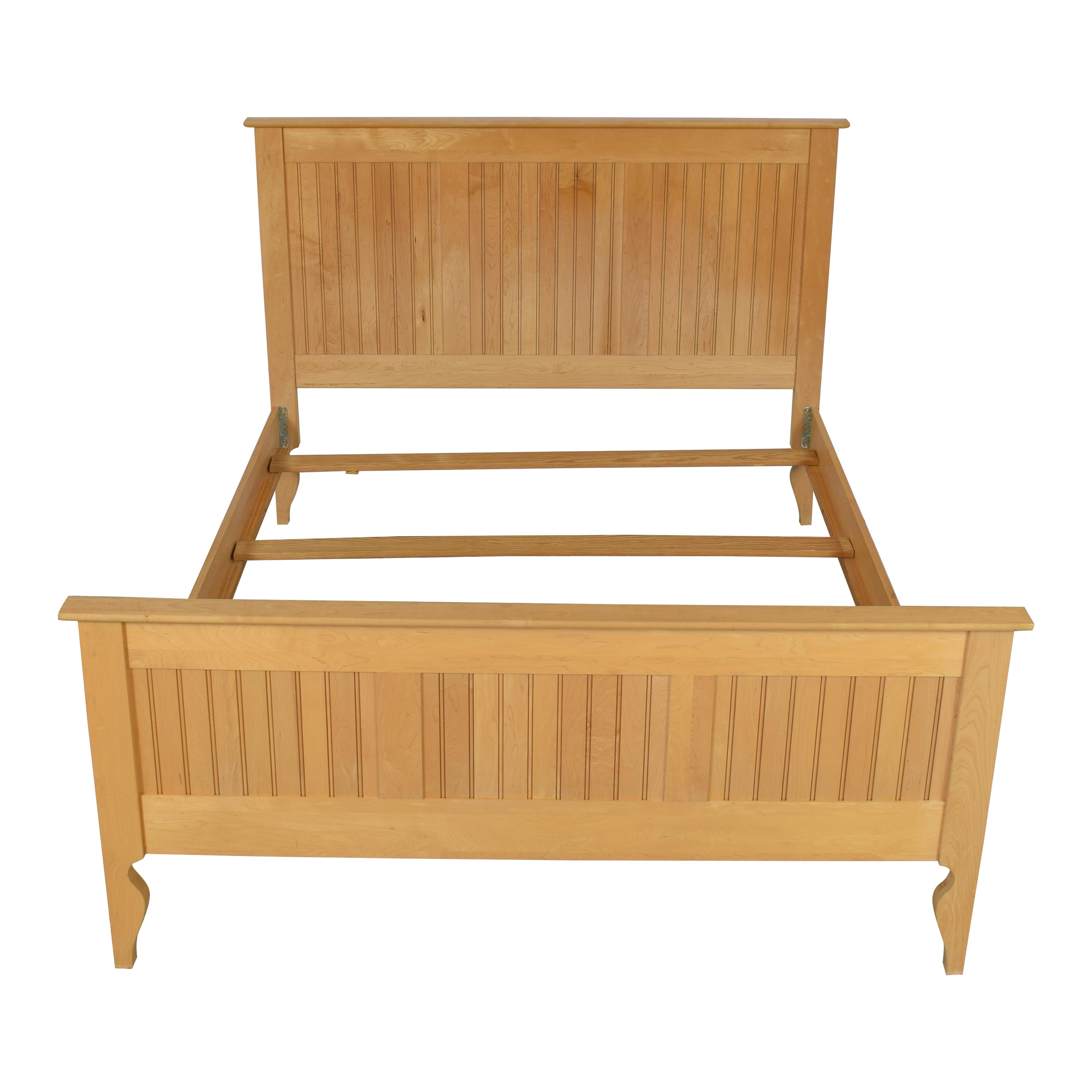 Crate & Barrel Wooden Queen Bed / Beds